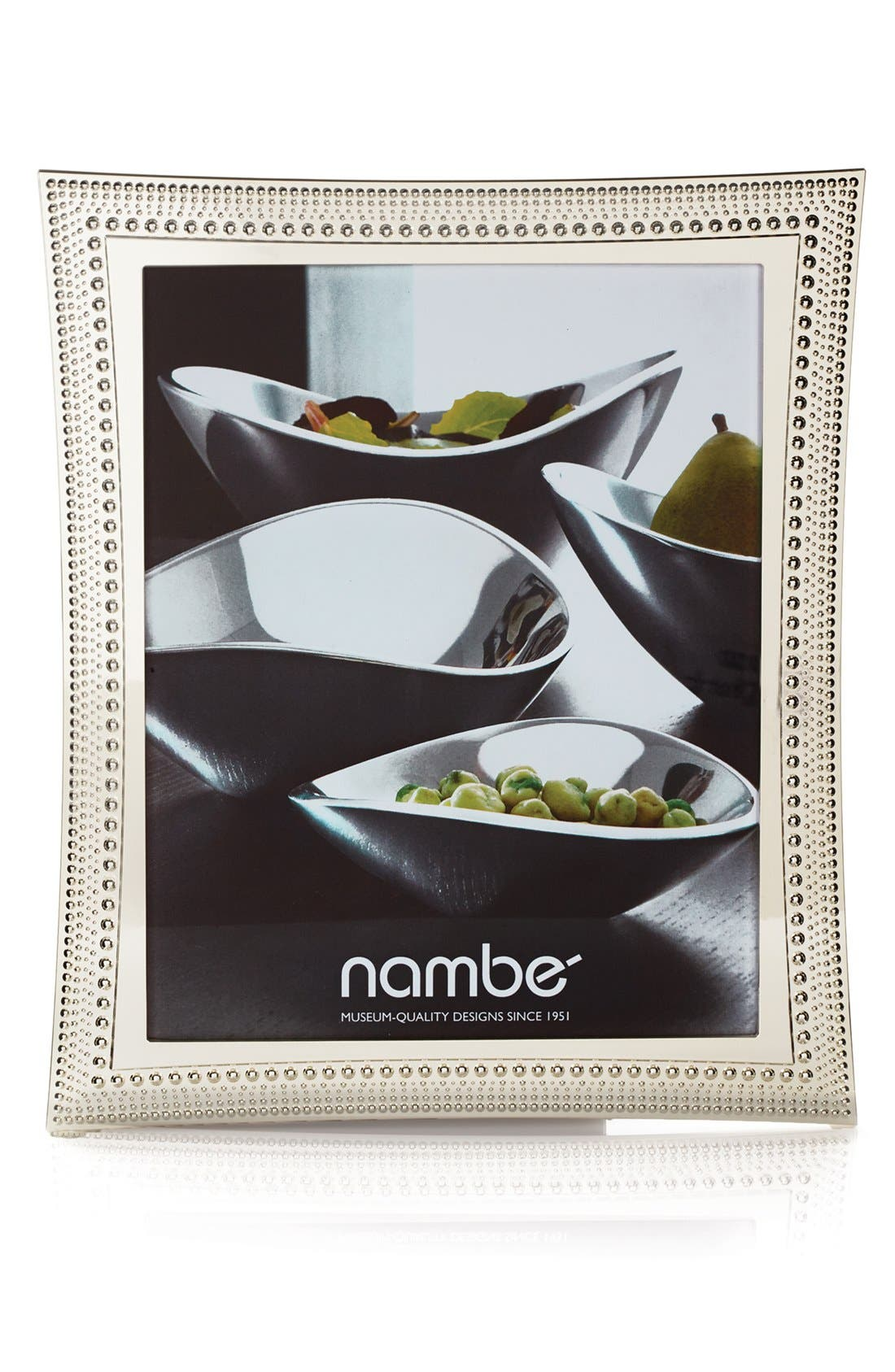 NAMBÉ, Beaded Picture Frame, Alternate thumbnail 2, color, SILVER