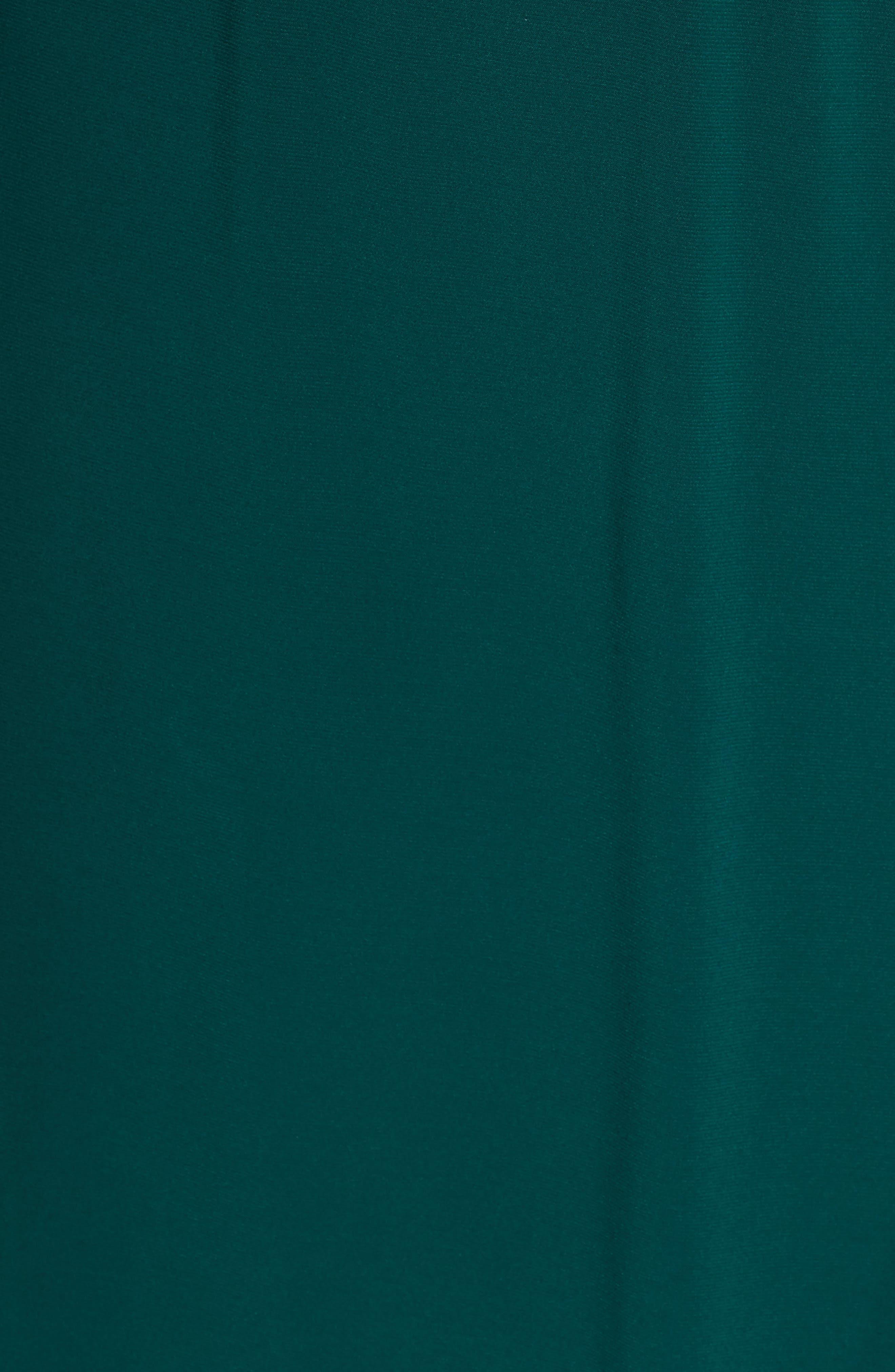 ELIZA J, Smocked Shoulder Wrap Dress, Alternate thumbnail 6, color, 376