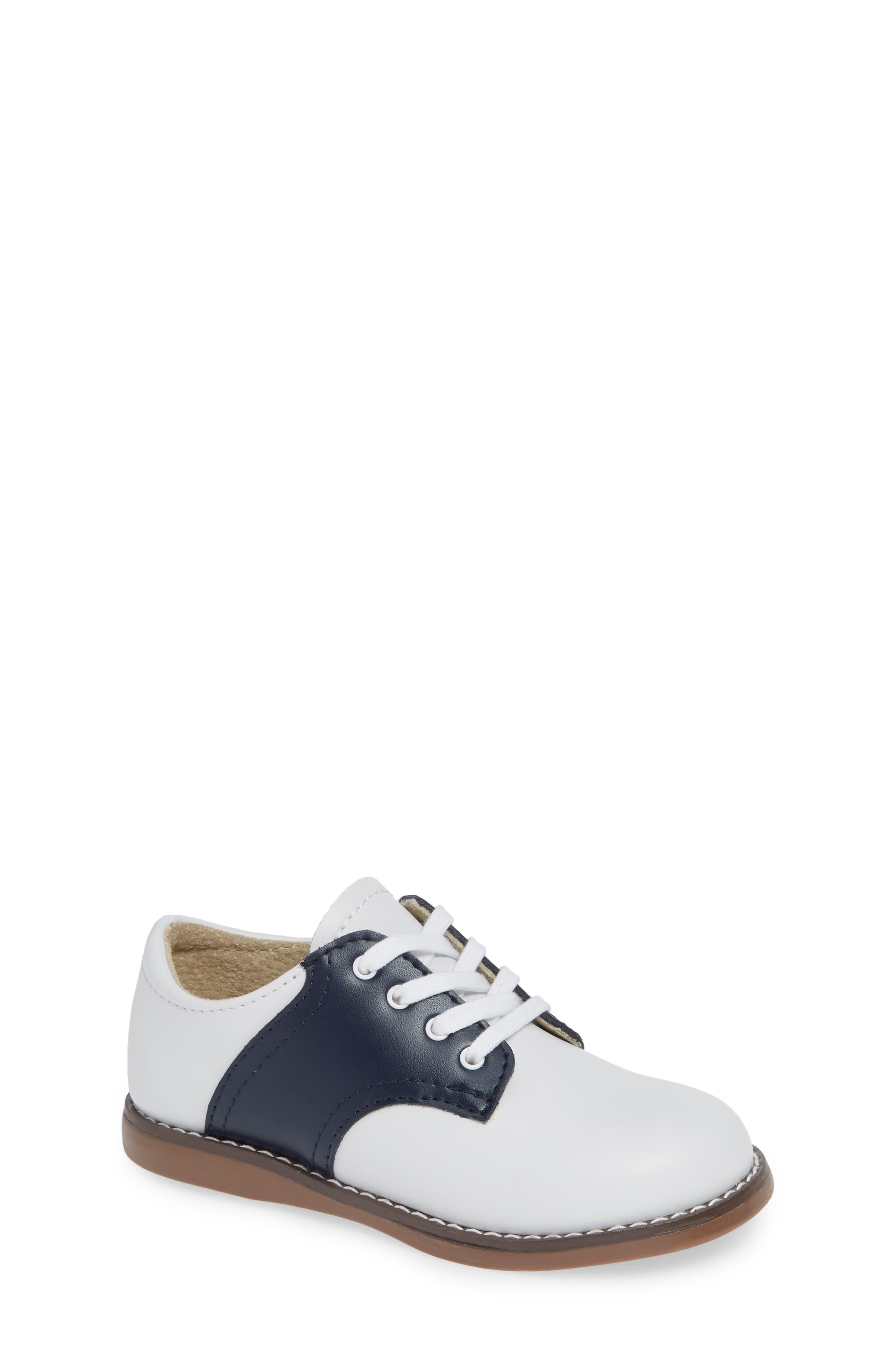 FOOTMATES, Cheer Oxford, Main thumbnail 1, color, WHITE/ NAVY
