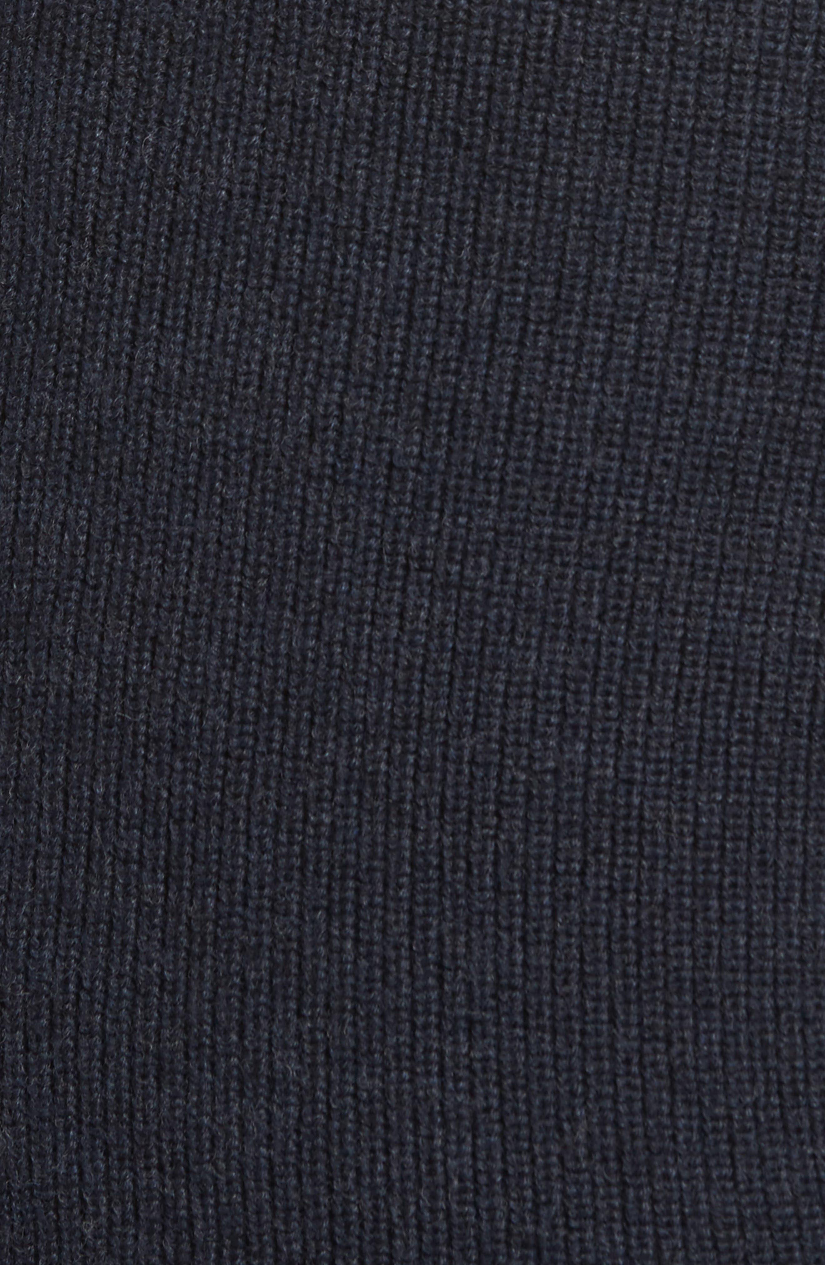 RODD & GUNN, Camerons Track Zip Wool Sweater, Alternate thumbnail 5, color, 412