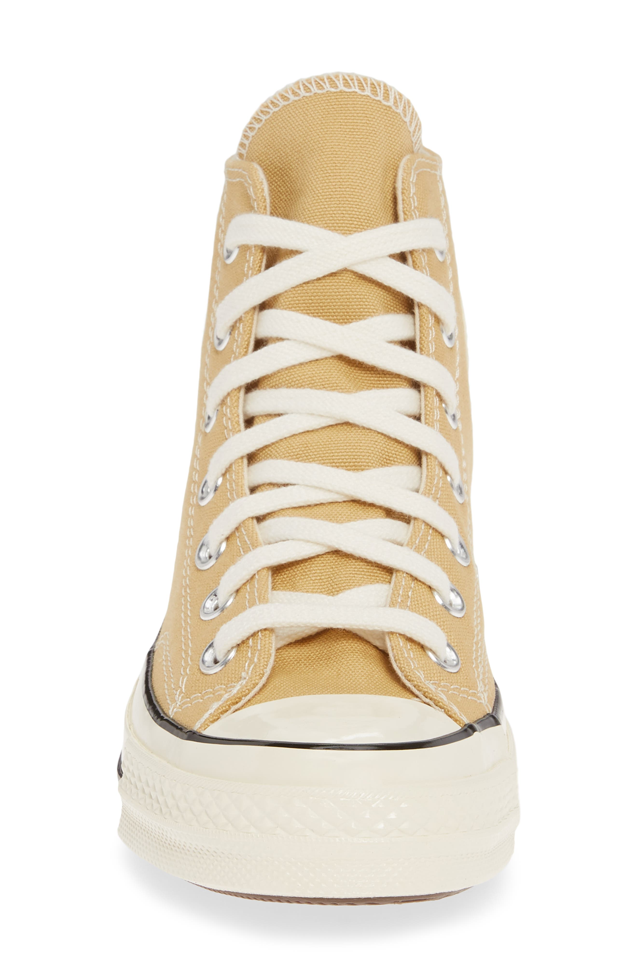 CONVERSE, Chuck Taylor<sup>®</sup> All Star<sup>®</sup> 70 High Top Sneaker, Alternate thumbnail 4, color, CLUB GOLD/ EGRET/ BLACK