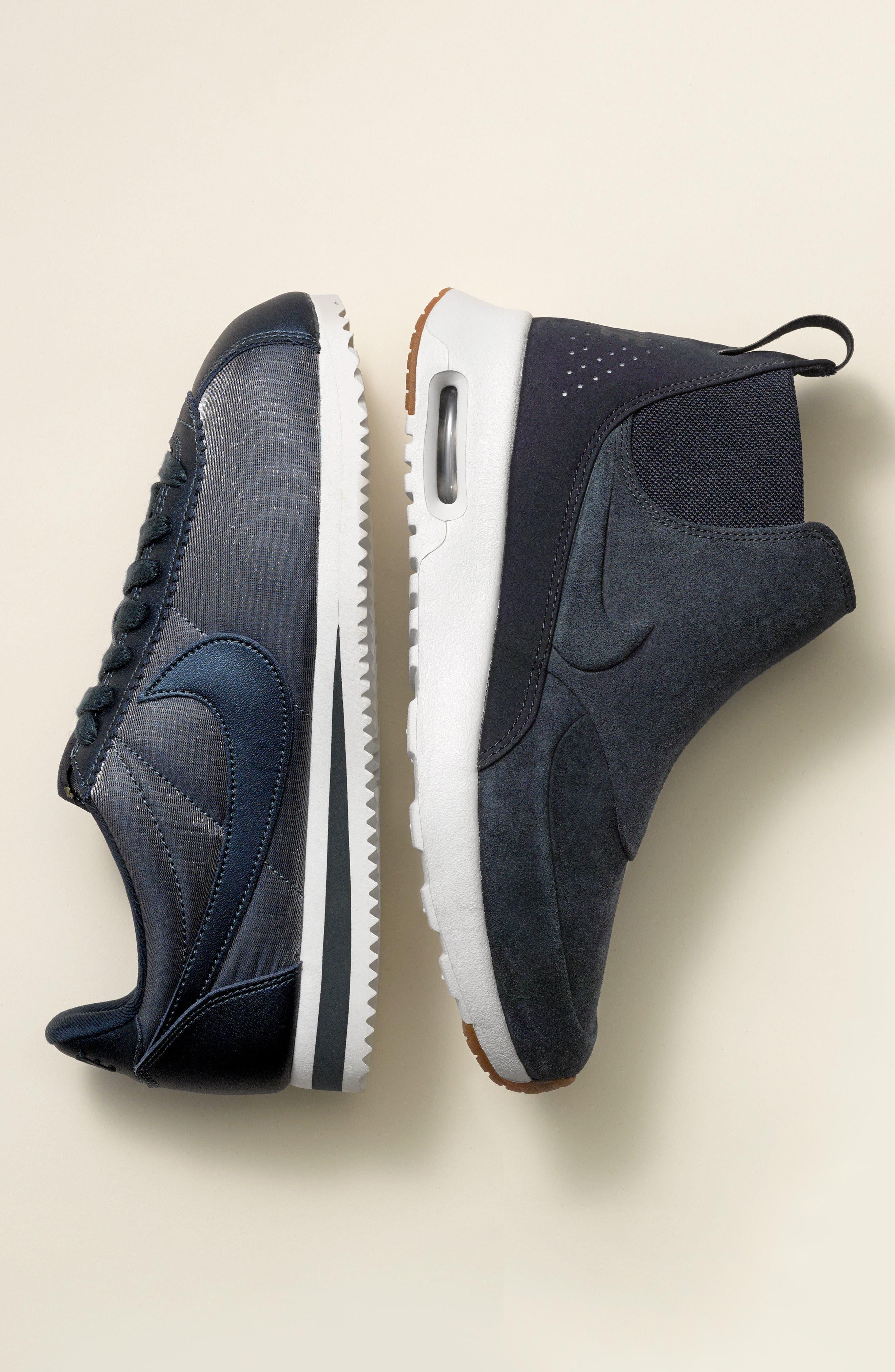 NIKE, Classic Cortez Premium XLV Sneaker, Alternate thumbnail 7, color, BARELY GREY/ WHITE