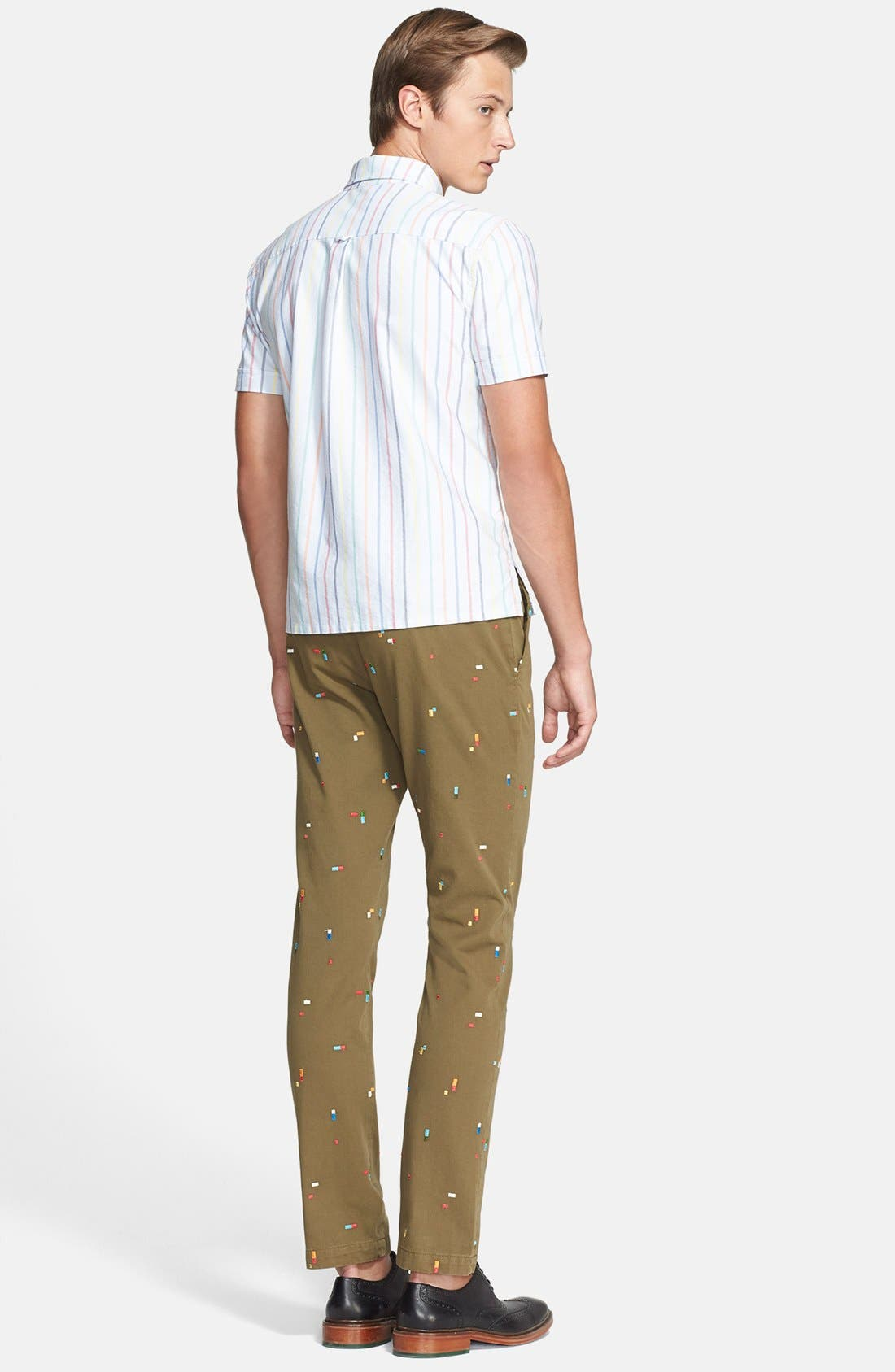BAND OF OUTSIDERS, Slim Fit Embroidered Chinos, Alternate thumbnail 2, color, 411