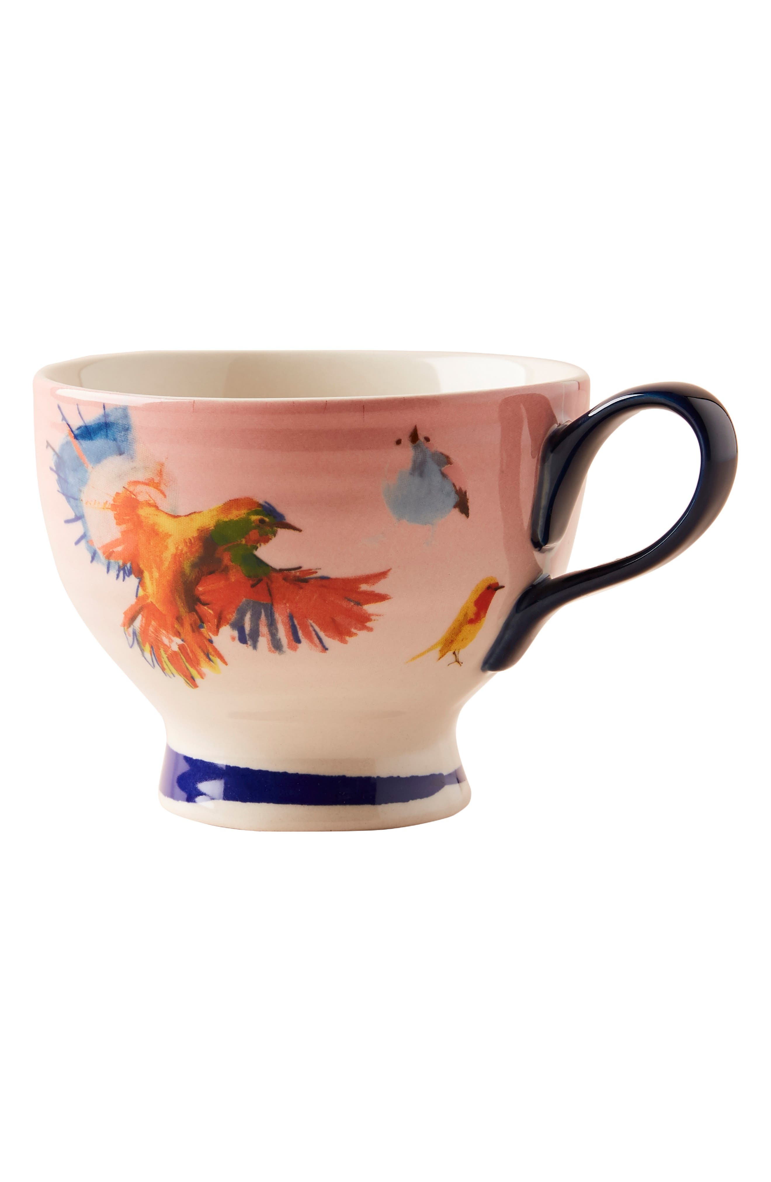 ANTHROPOLOGIE, Raven Roxanne Cup, Alternate thumbnail 6, color, NAVY