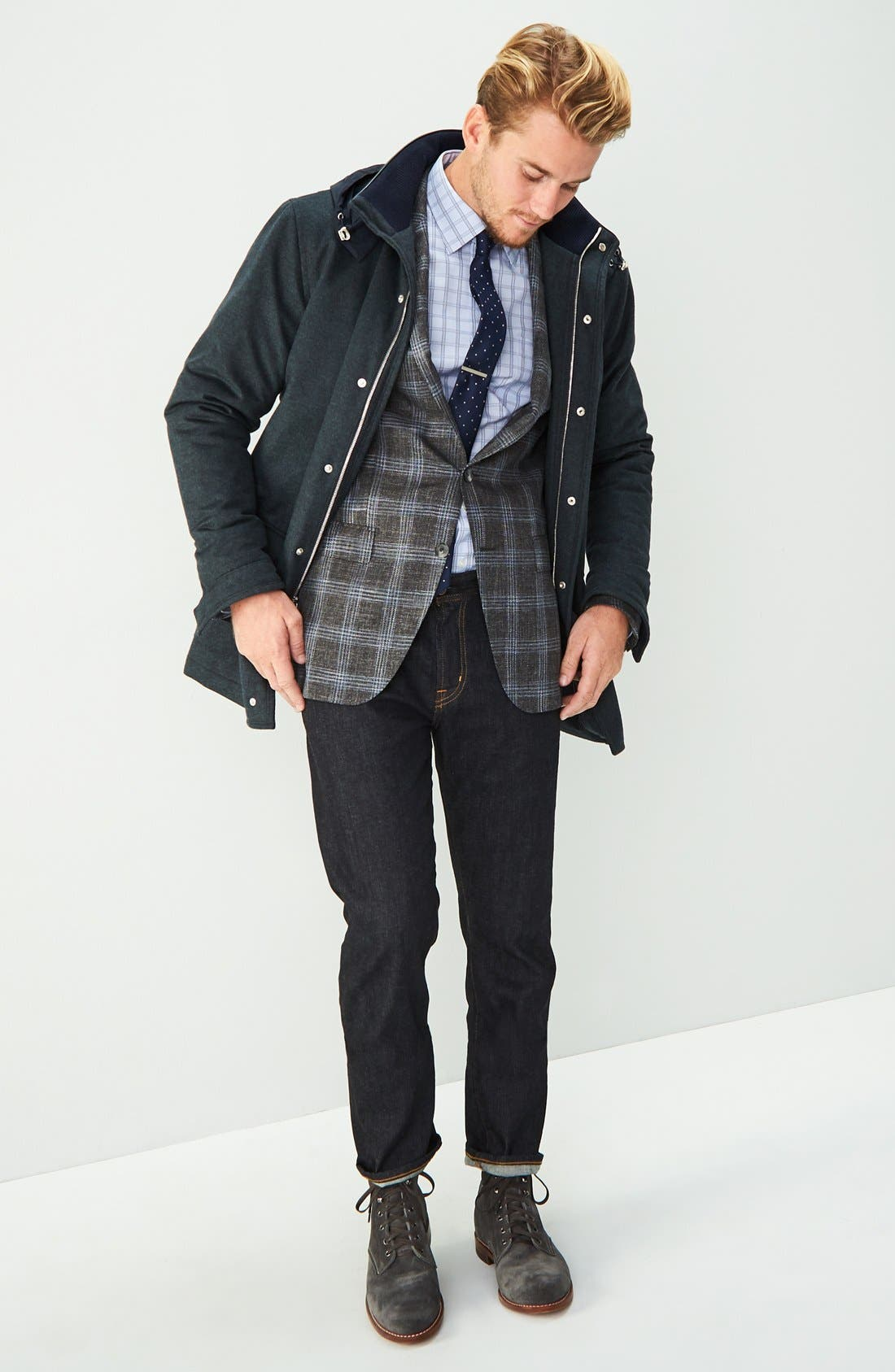 AG, 'Graduate' Slim Straight Leg Jeans, Alternate thumbnail 6, color, JACK