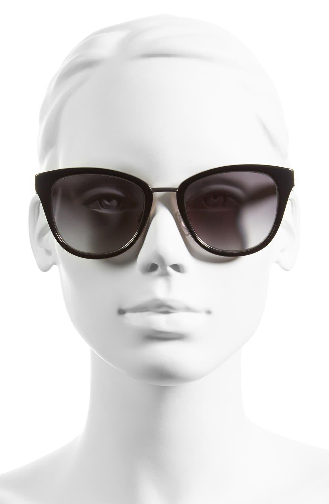 BOBBI BROWN, 'The Rowan' 53mm Cat Eye Sunglasses, Alternate thumbnail 2, color, 001