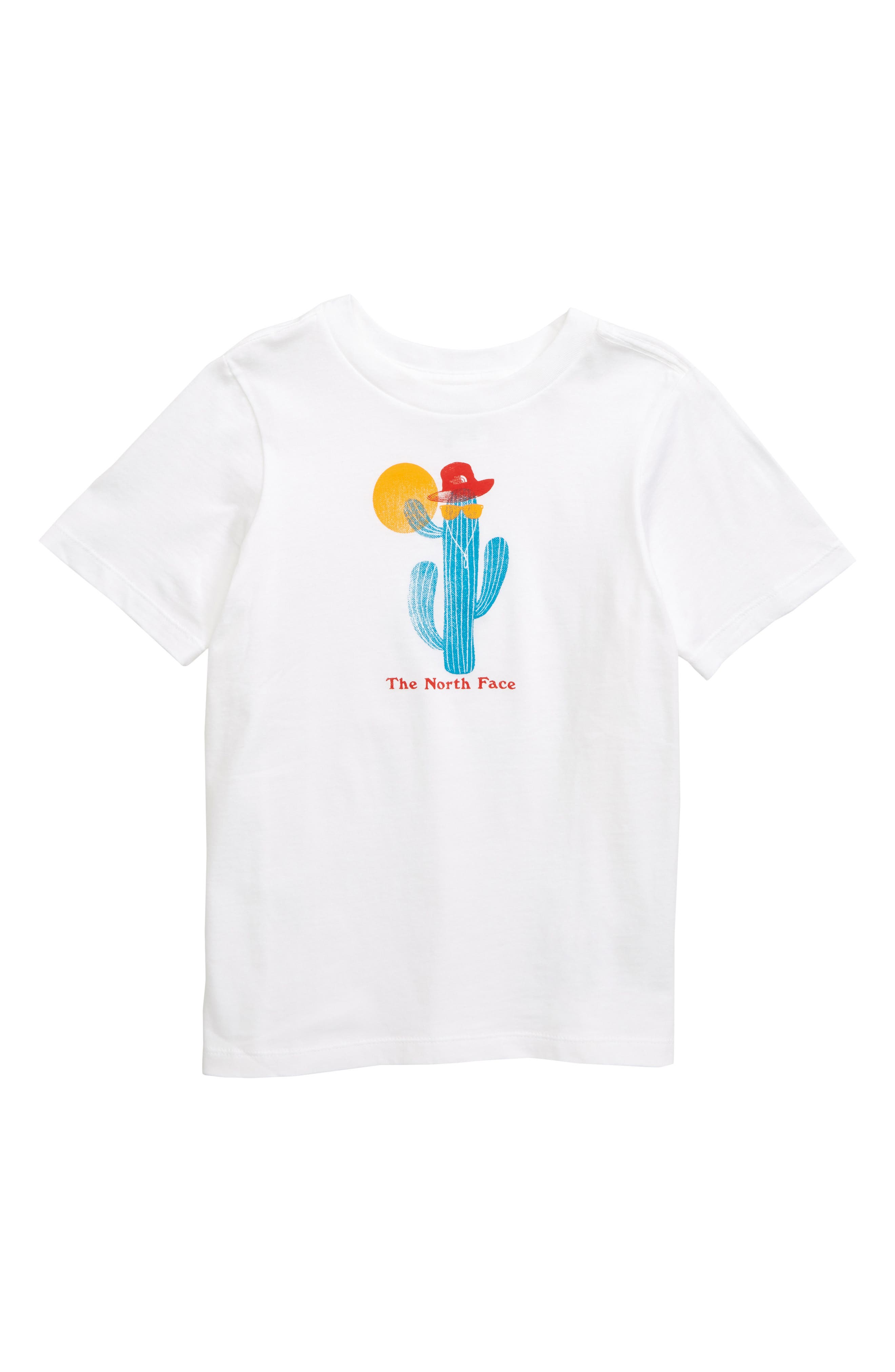 THE NORTH FACE Logo Graphic T-Shirt, Main, color, TNF WHITE/ FIERY RED