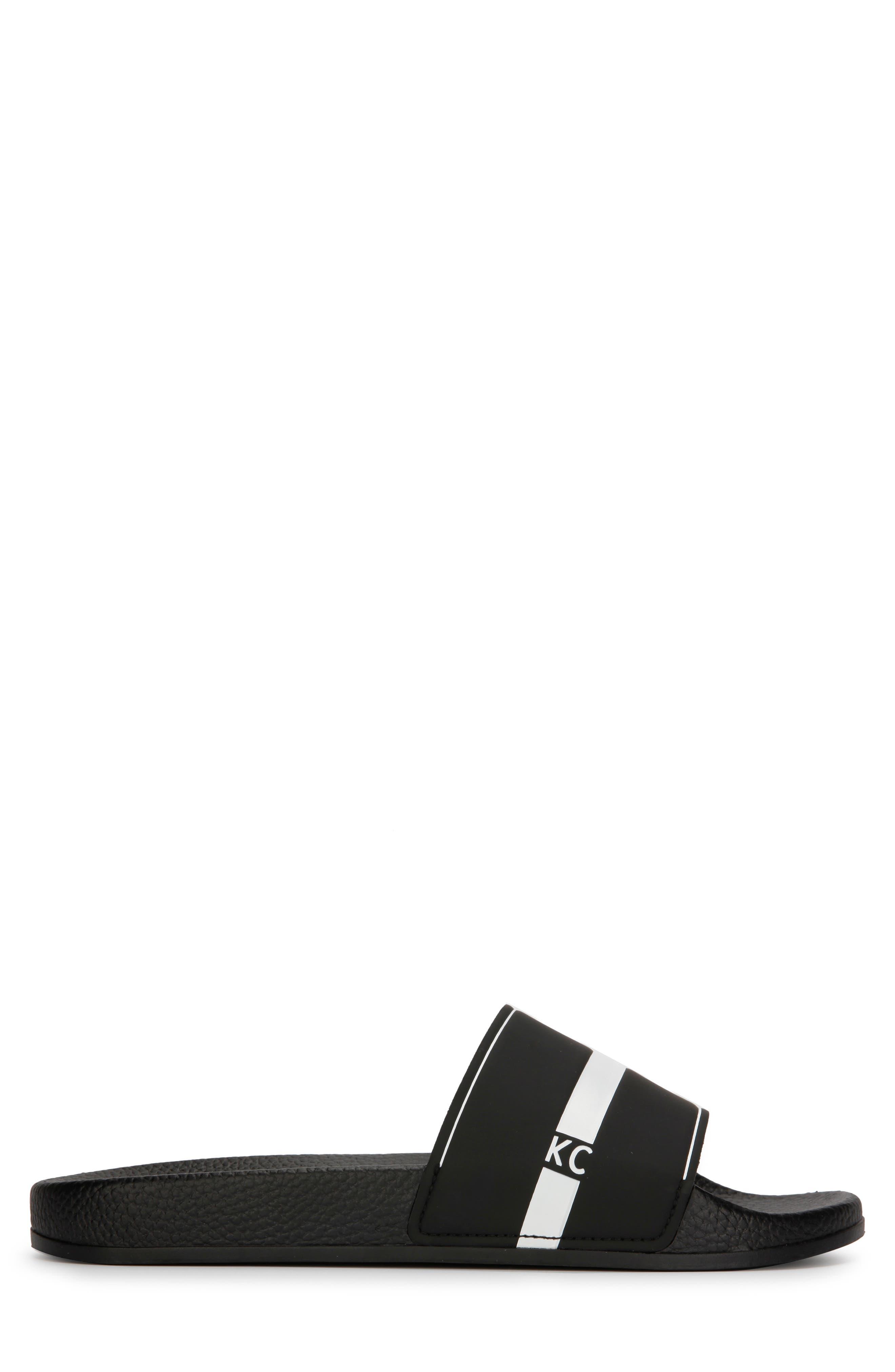 REACTION KENNETH COLE, Slide, Alternate thumbnail 2, color, BLACK/ WHITE