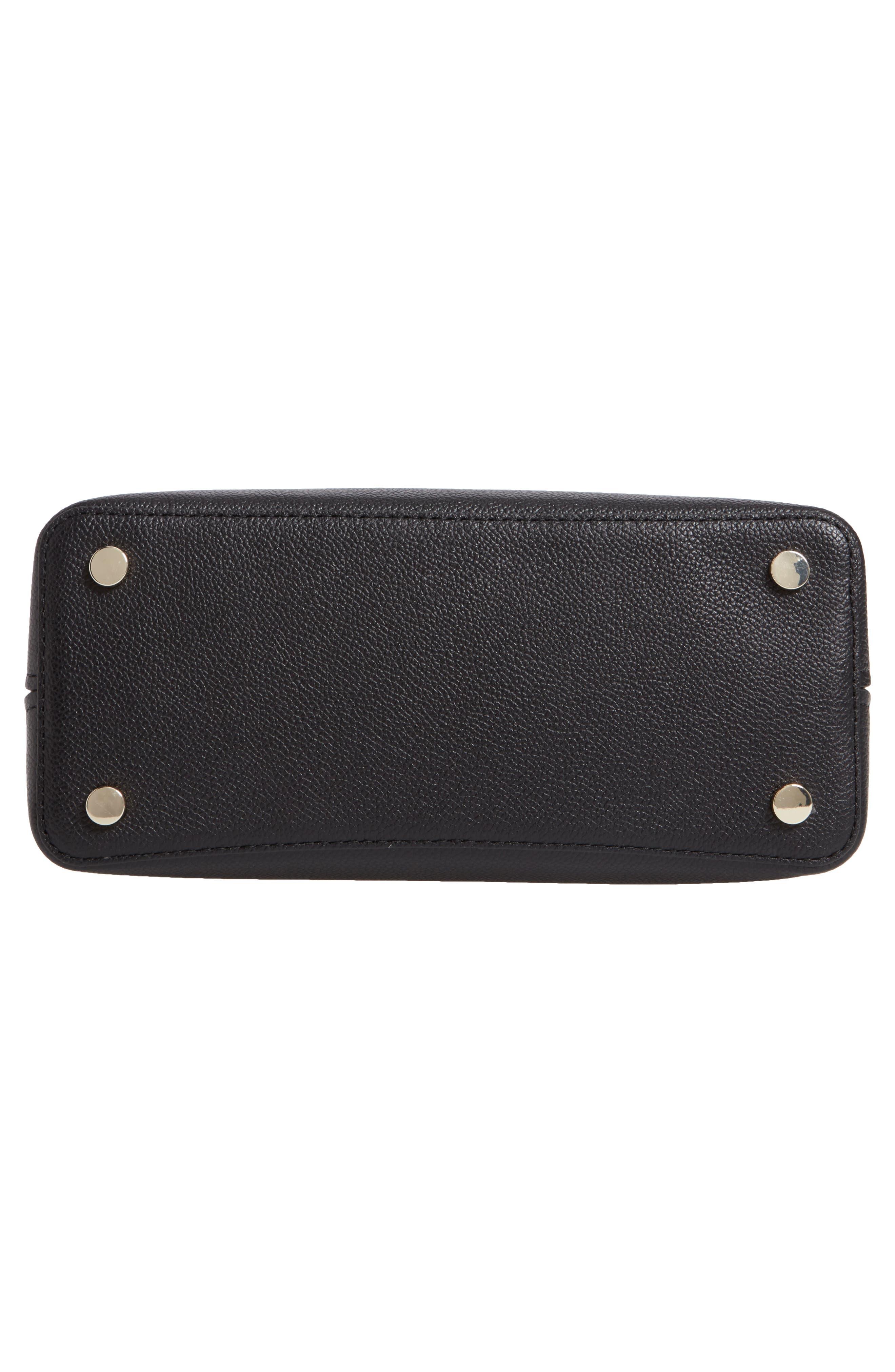 KATE SPADE NEW YORK, medium margaux leather satchel, Alternate thumbnail 7, color, BLACK