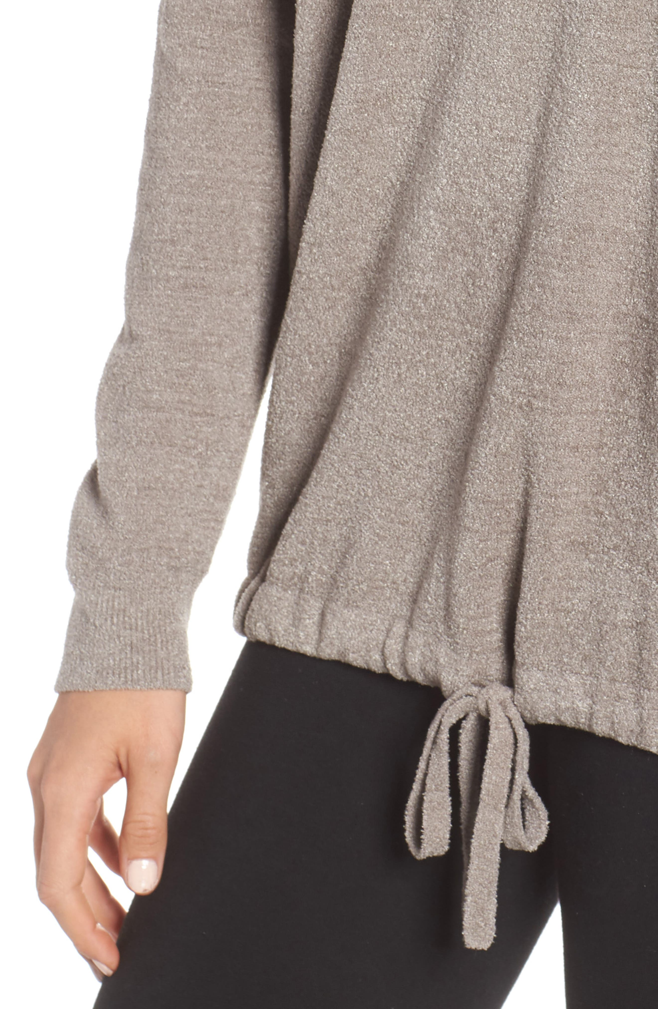 BAREFOOT DREAMS<SUP>®</SUP>, Cozychic Ultra Lite<sup>®</sup> Lounge Pullover, Alternate thumbnail 4, color, BEACH ROCK
