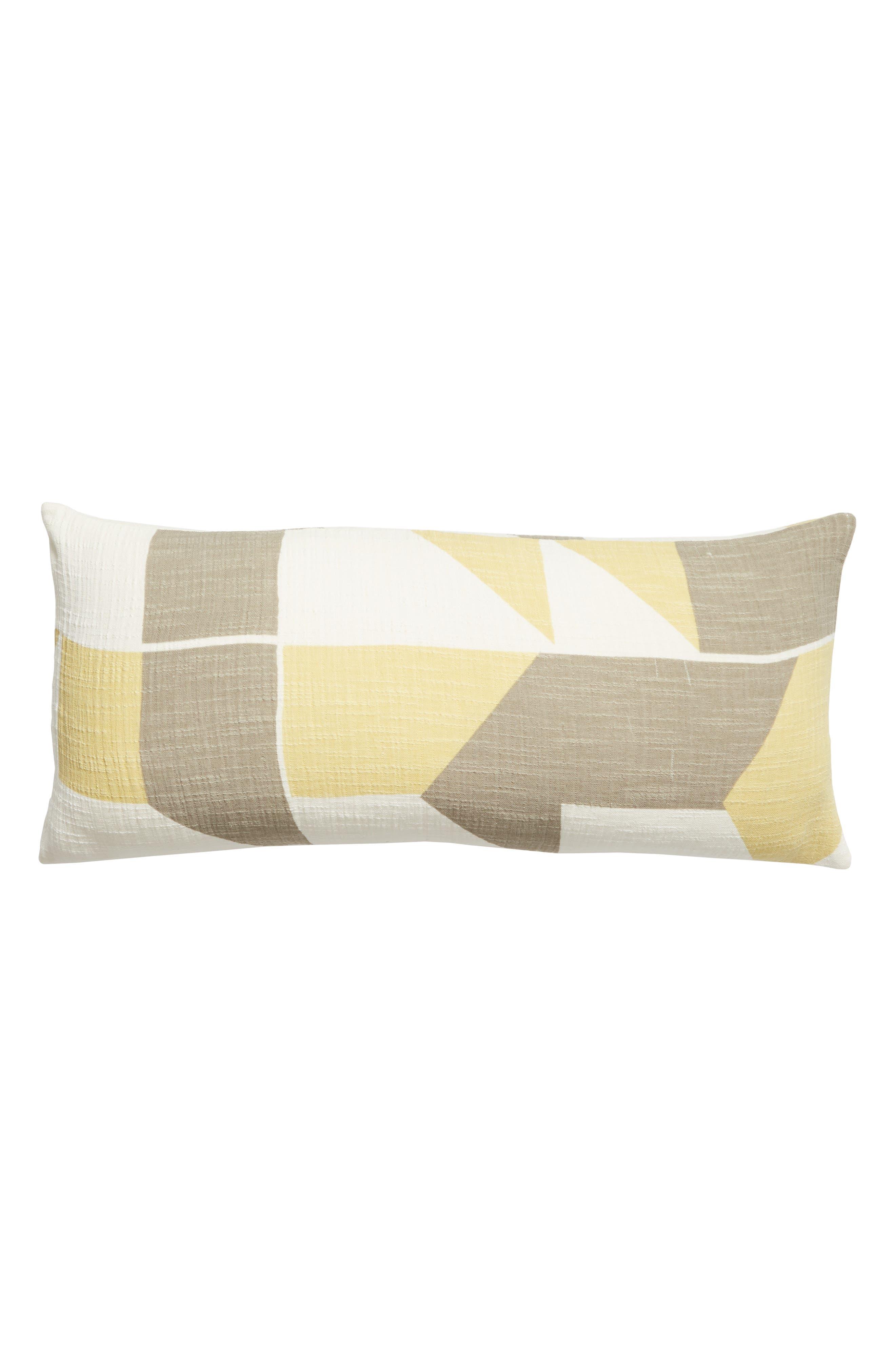 TREASURE & BOND Print Accent Pillow, Main, color, OLIVE NILE MULTI