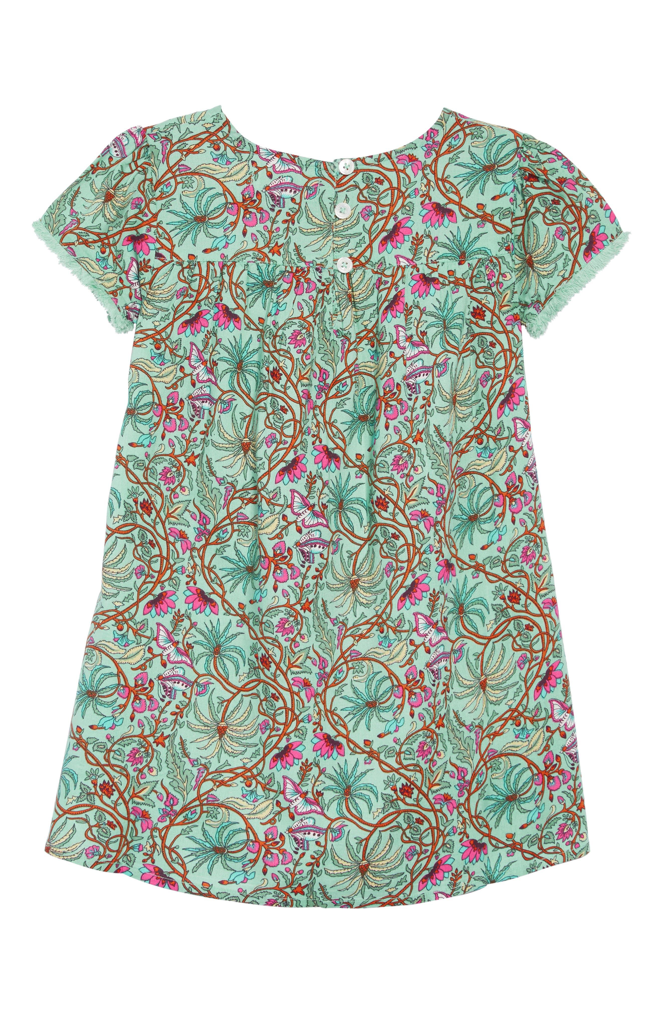 PEEK AREN'T YOU CURIOUS, Octavia Print Dress, Alternate thumbnail 2, color, GREEN