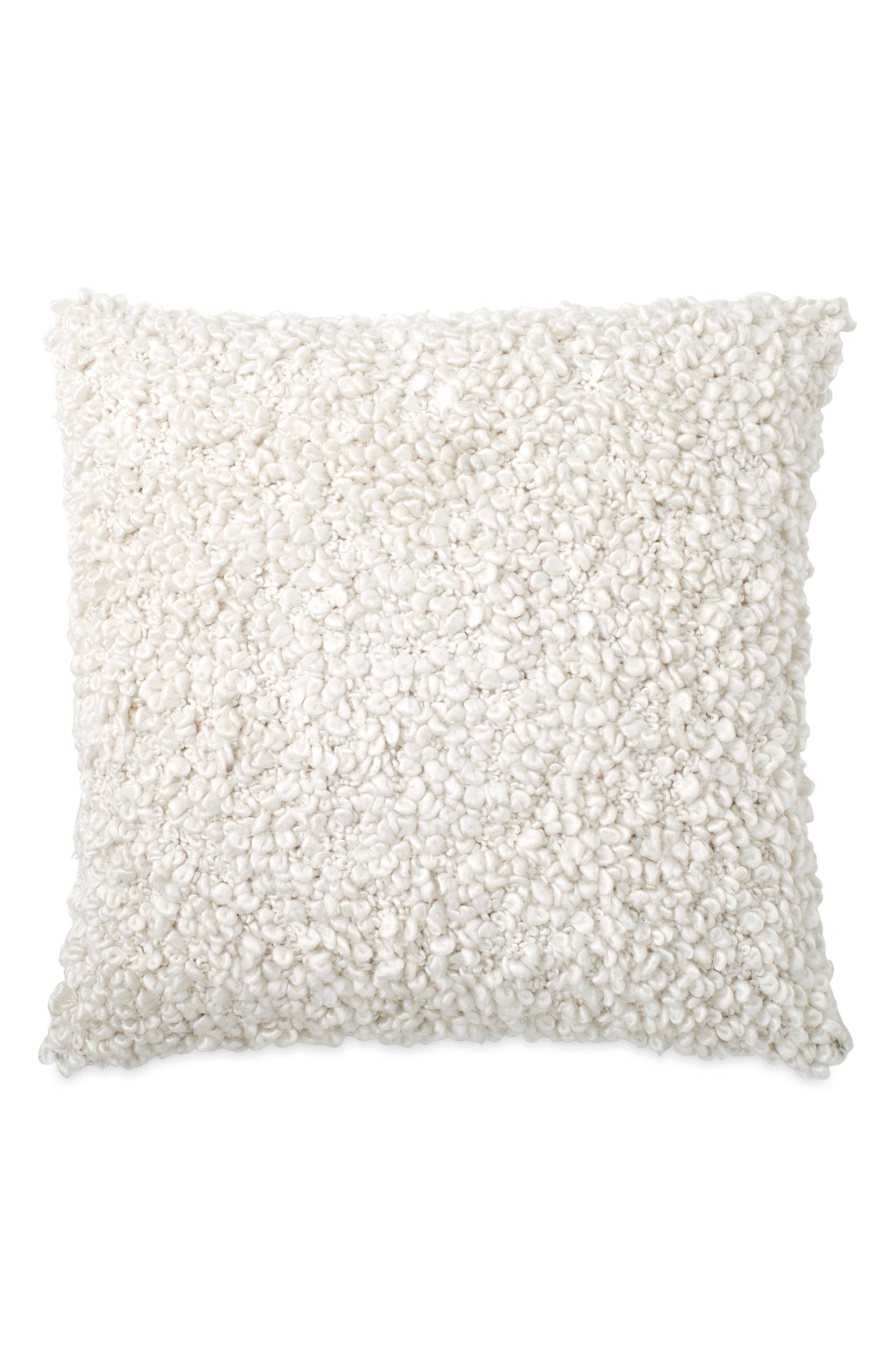 DKNY, Pure Looped Decorative Pillow, Main thumbnail 1, color, IVORY