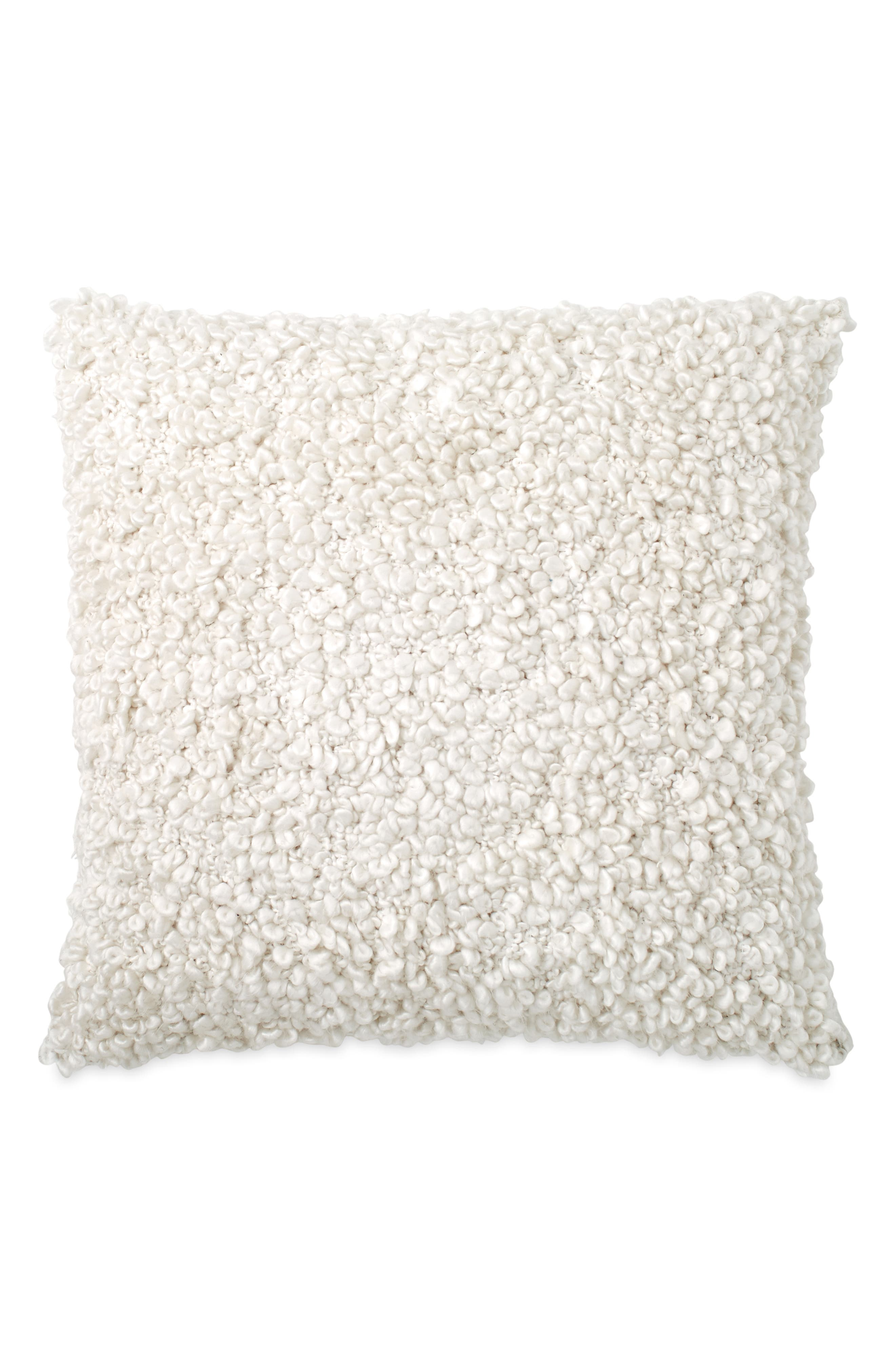 DKNY Pure Looped Decorative Pillow, Main, color, IVORY