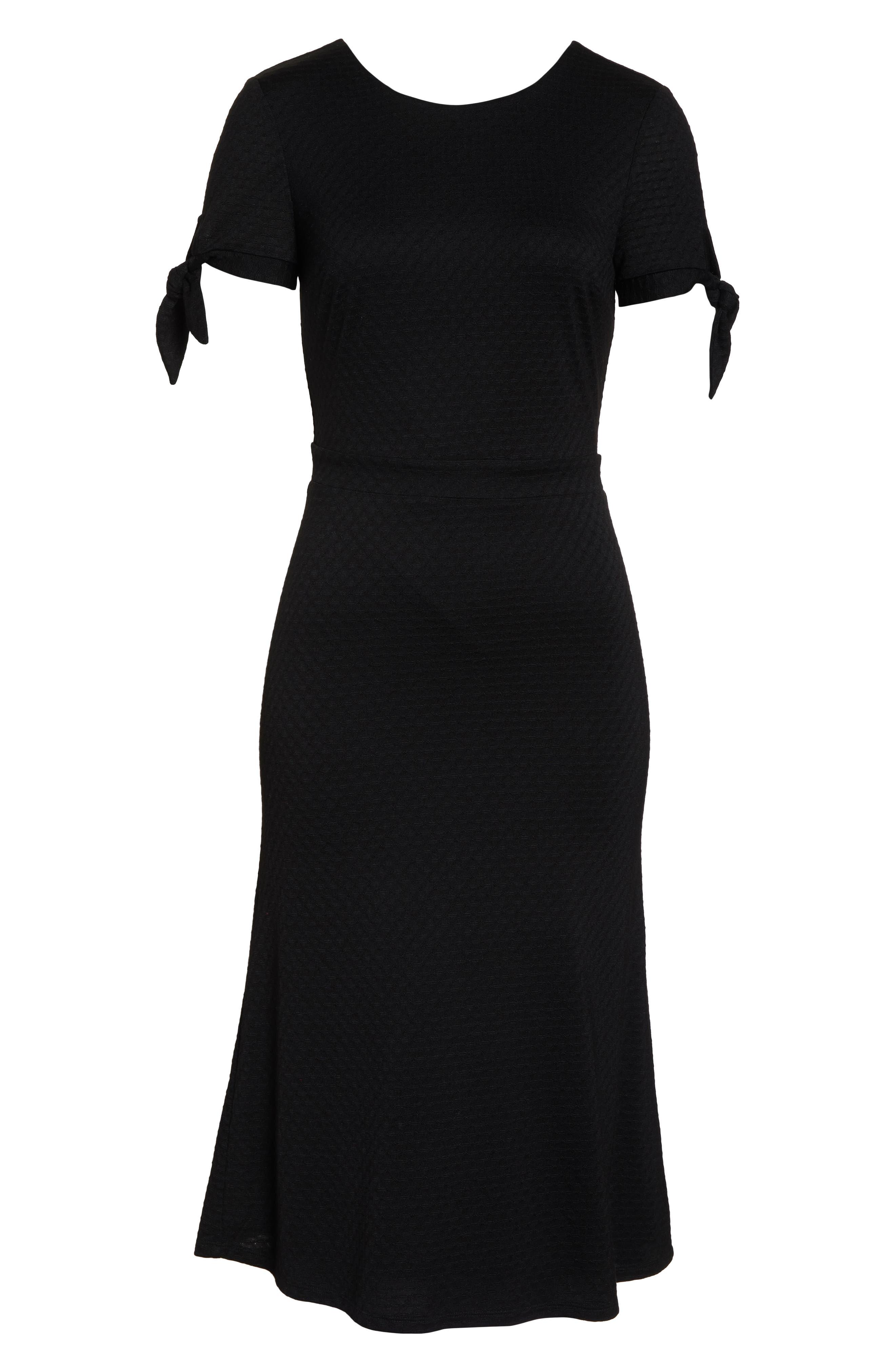 ALI & JAY, Bunker Hill Textured Midi Dress, Alternate thumbnail 7, color, 001