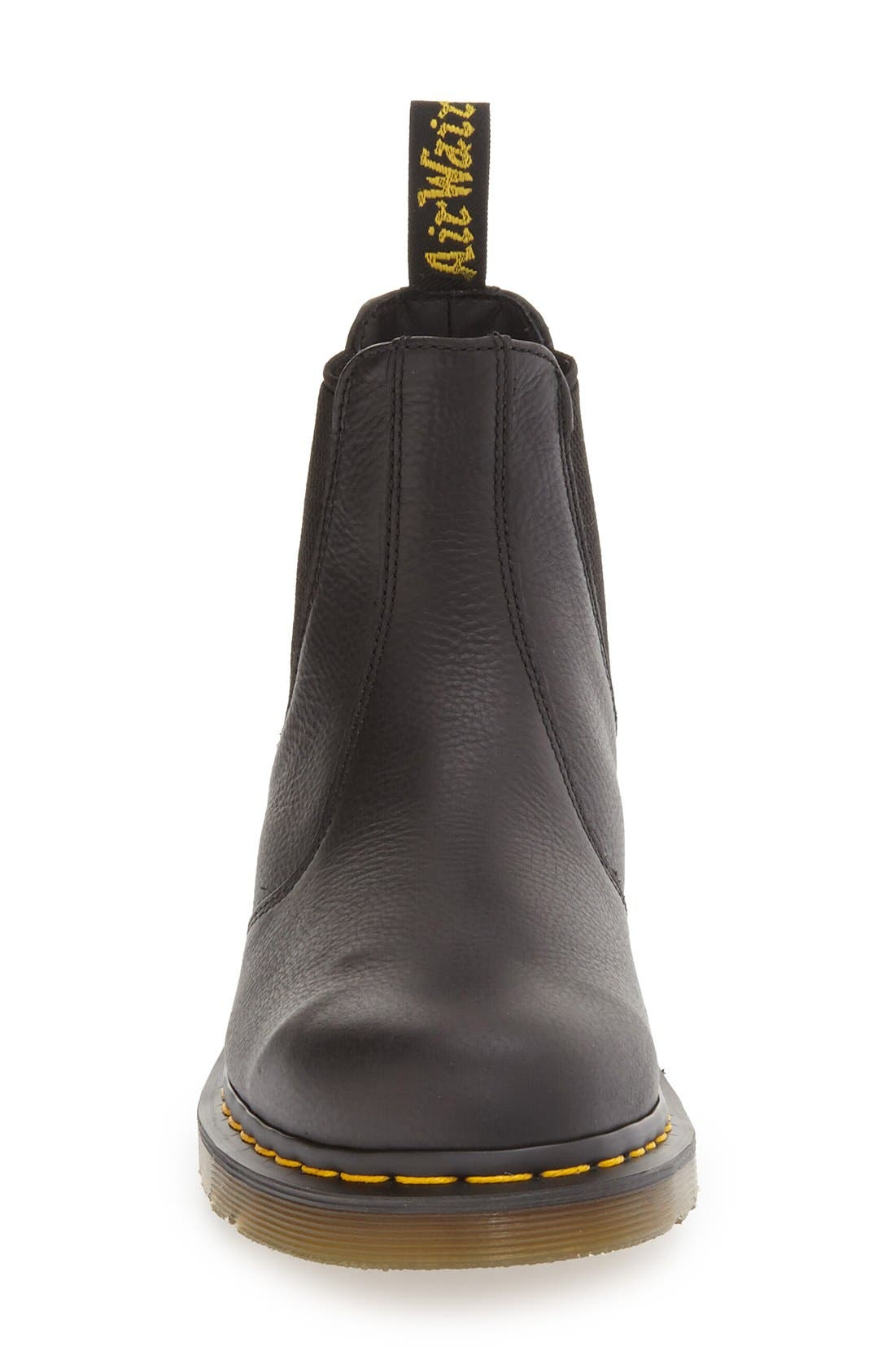 DR. MARTENS, '2976' Chelsea Boot, Alternate thumbnail 4, color, BLACK LEATHER