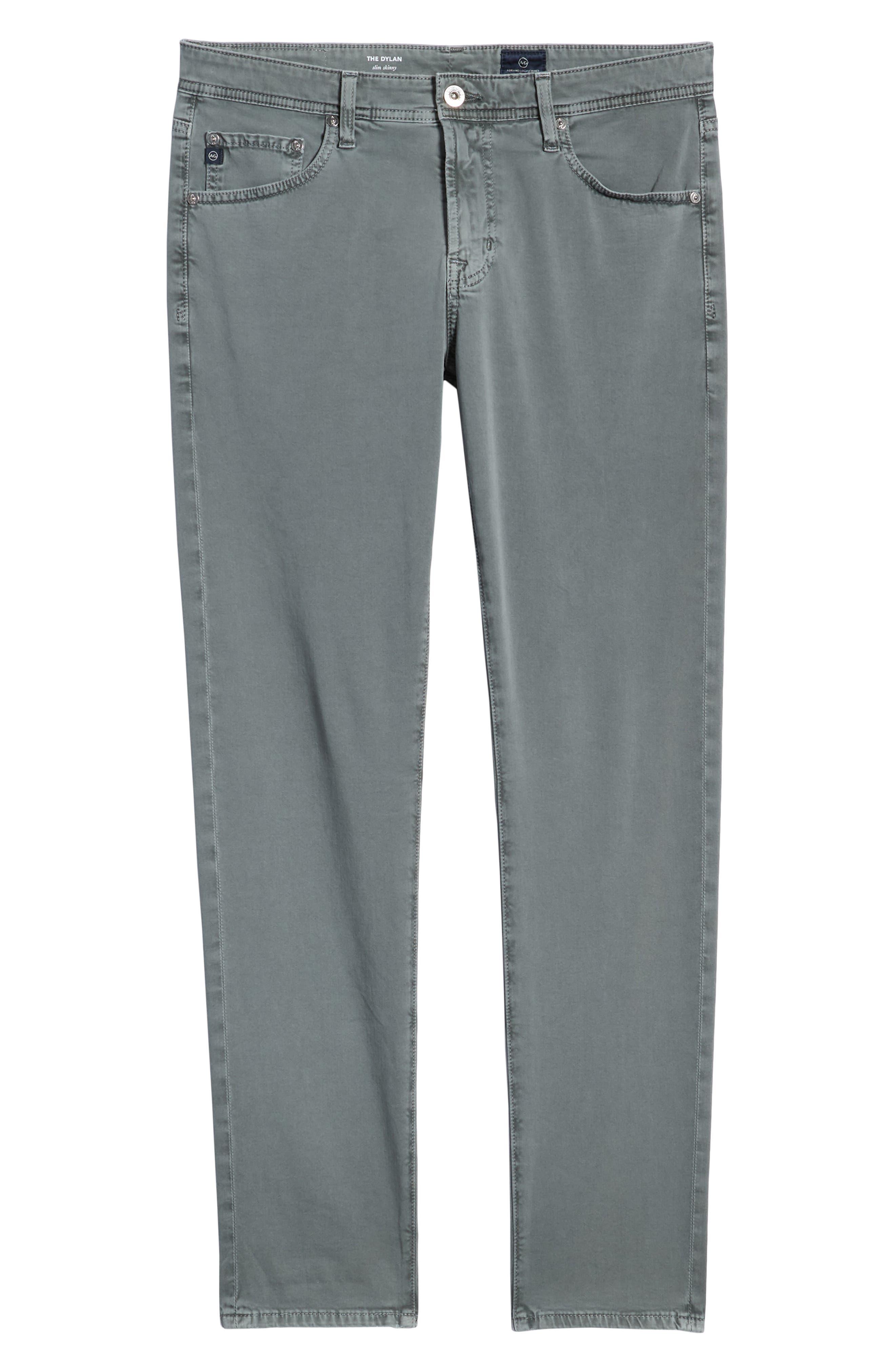 AG, Dylan Slim Fit Pants, Alternate thumbnail 7, color, SULFUR FOG BEACH