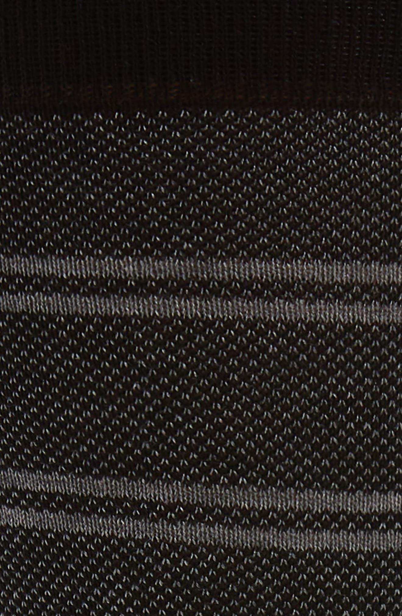 PANTHERELLA, Bird's Eye Stripe Socks, Alternate thumbnail 2, color, BLACK