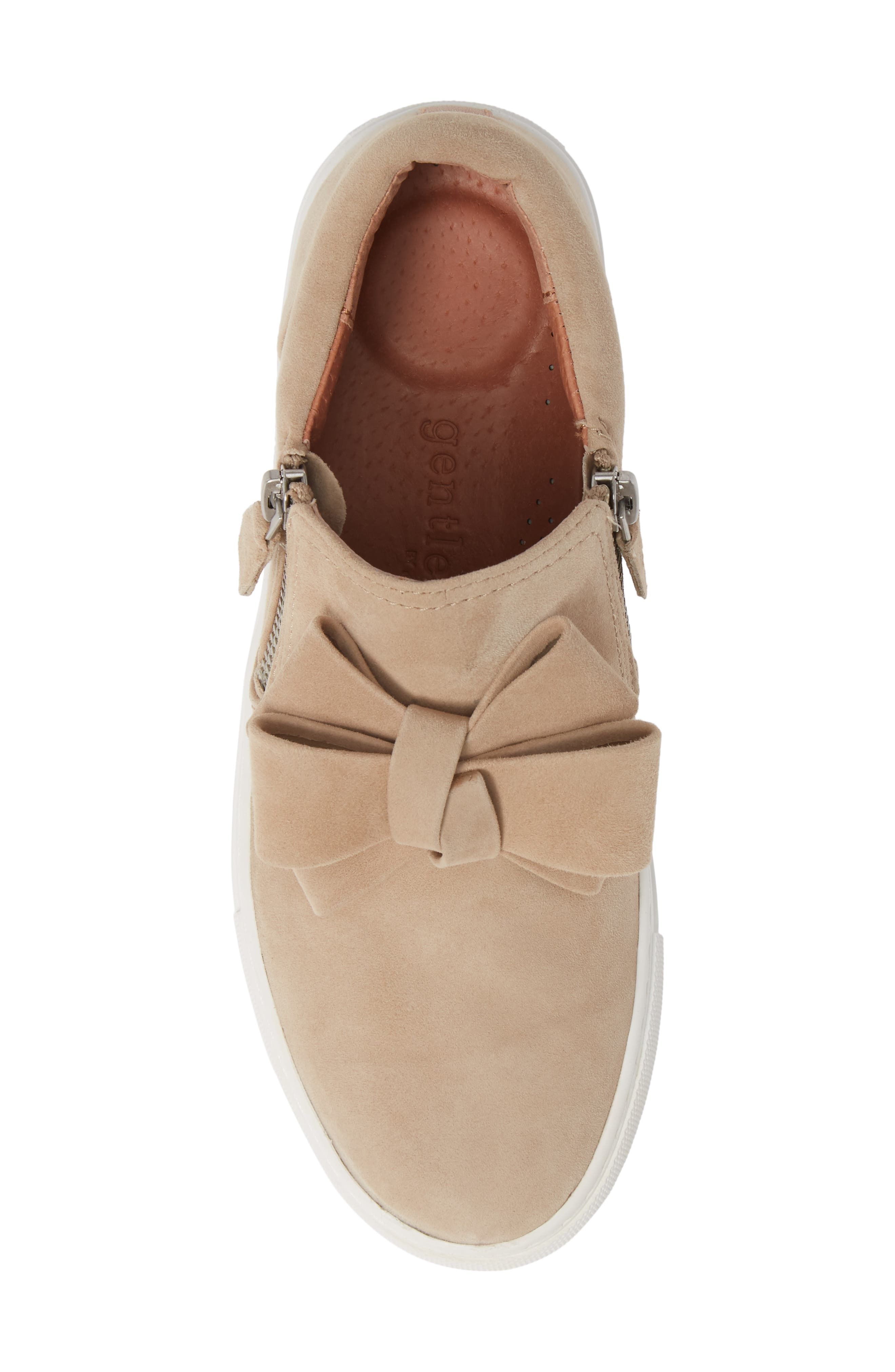 GENTLE SOULS BY KENNETH COLE, Lowe Bow Sneaker, Alternate thumbnail 5, color, CAFE SUEDE