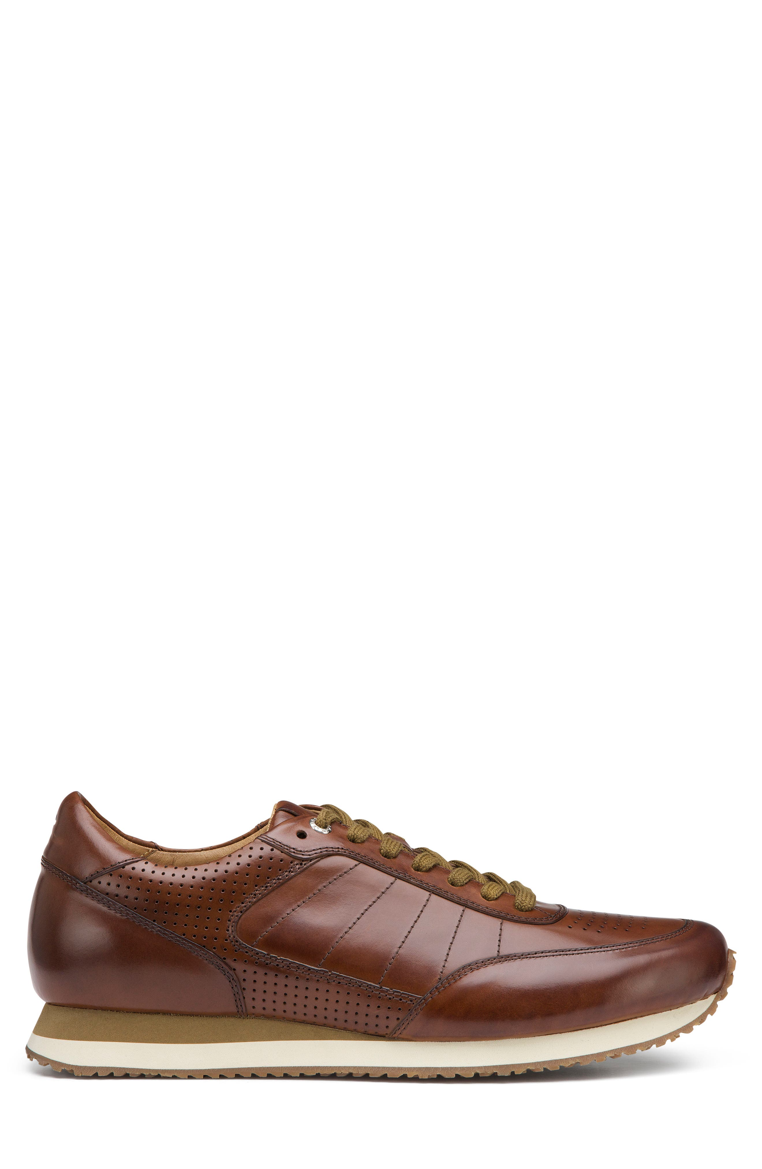 TRASK, Aiden Sneaker, Alternate thumbnail 3, color, BROWN LEATHER