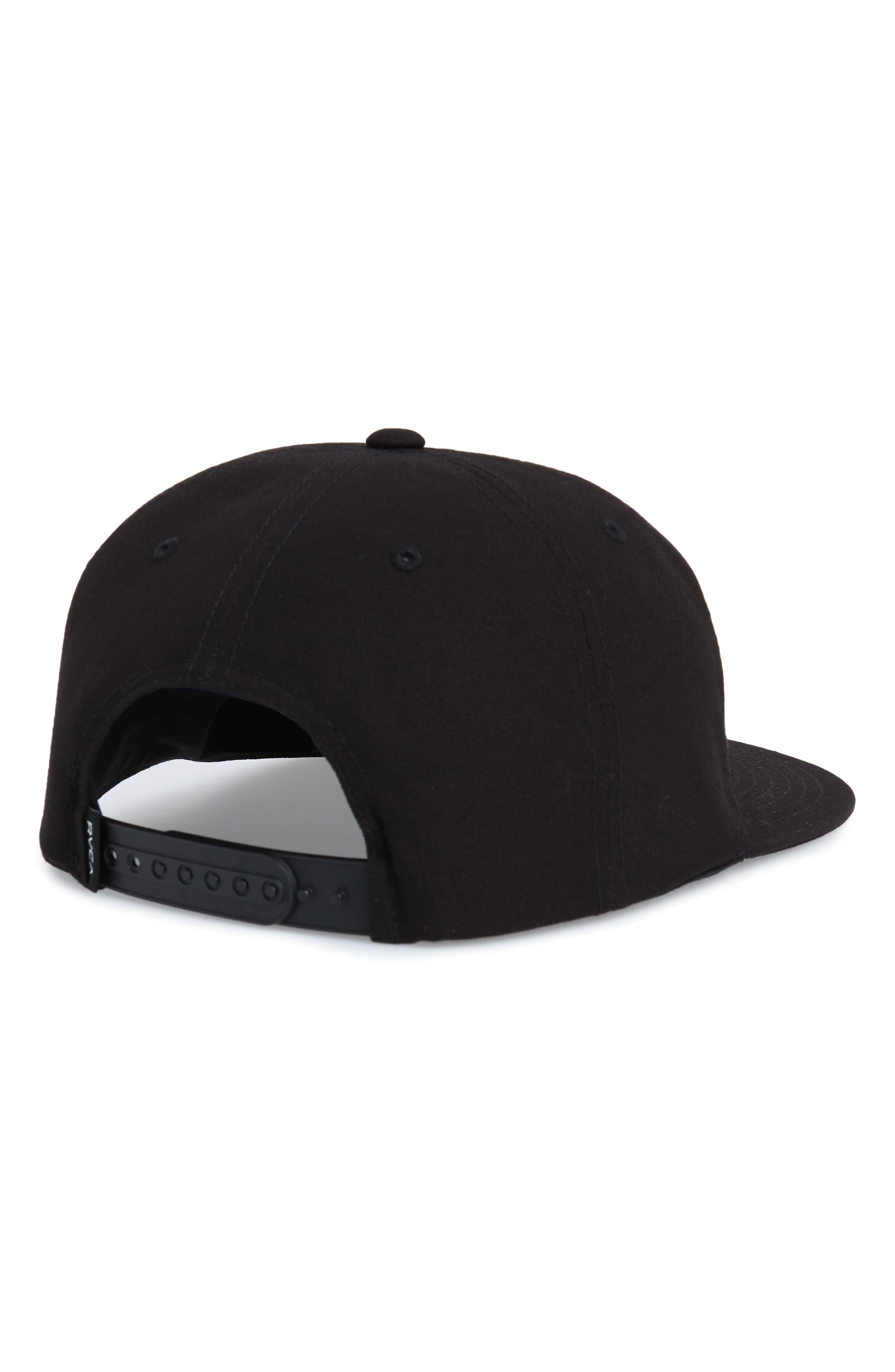 RVCA, Prowler Snapback Baseball Cap, Alternate thumbnail 2, color, BLACK