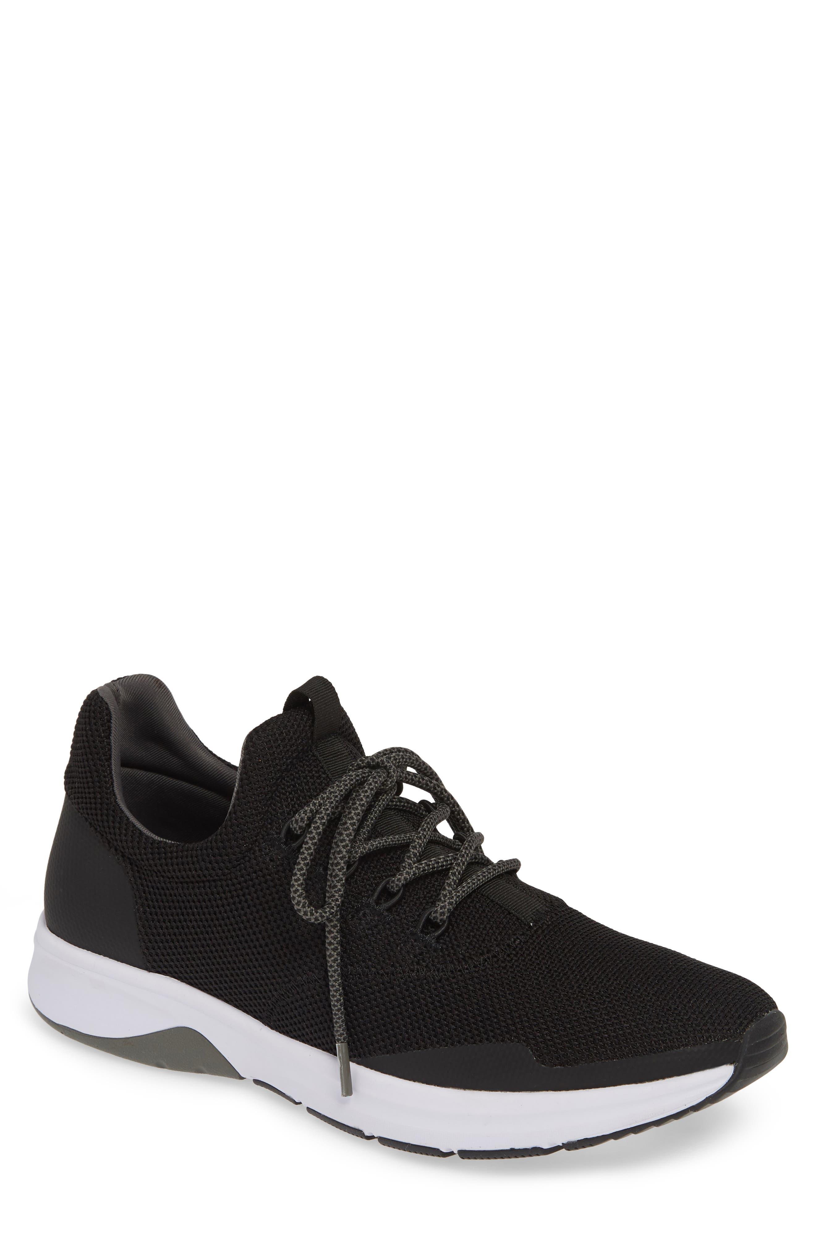THE RAIL Axel Sneaker, Main, color, BLACK