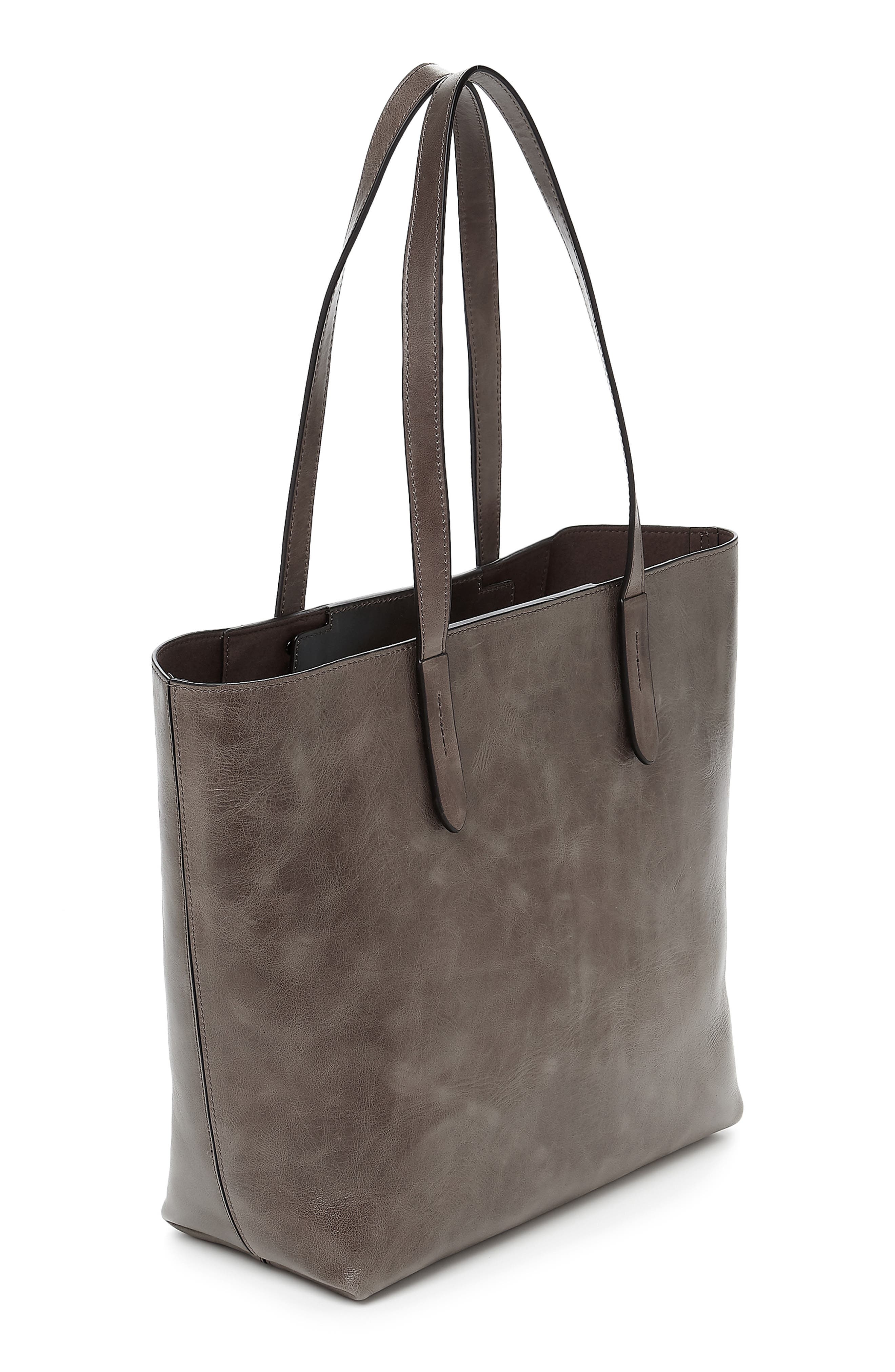 BOTKIER, Highline Leather Tote, Alternate thumbnail 2, color, WINTER GREY