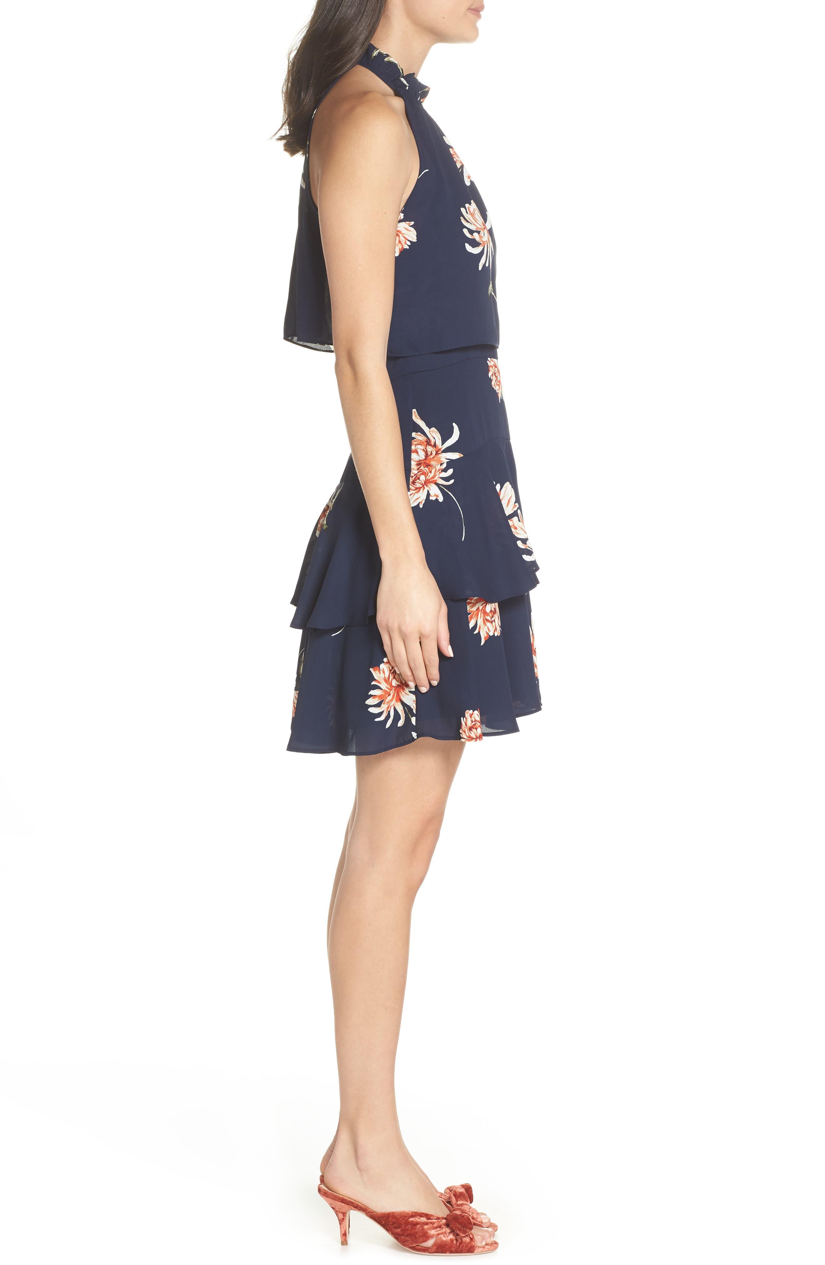 BB DAKOTA, Garden Variety Halter Neck Dress, Alternate thumbnail 4, color, OIL SLICK