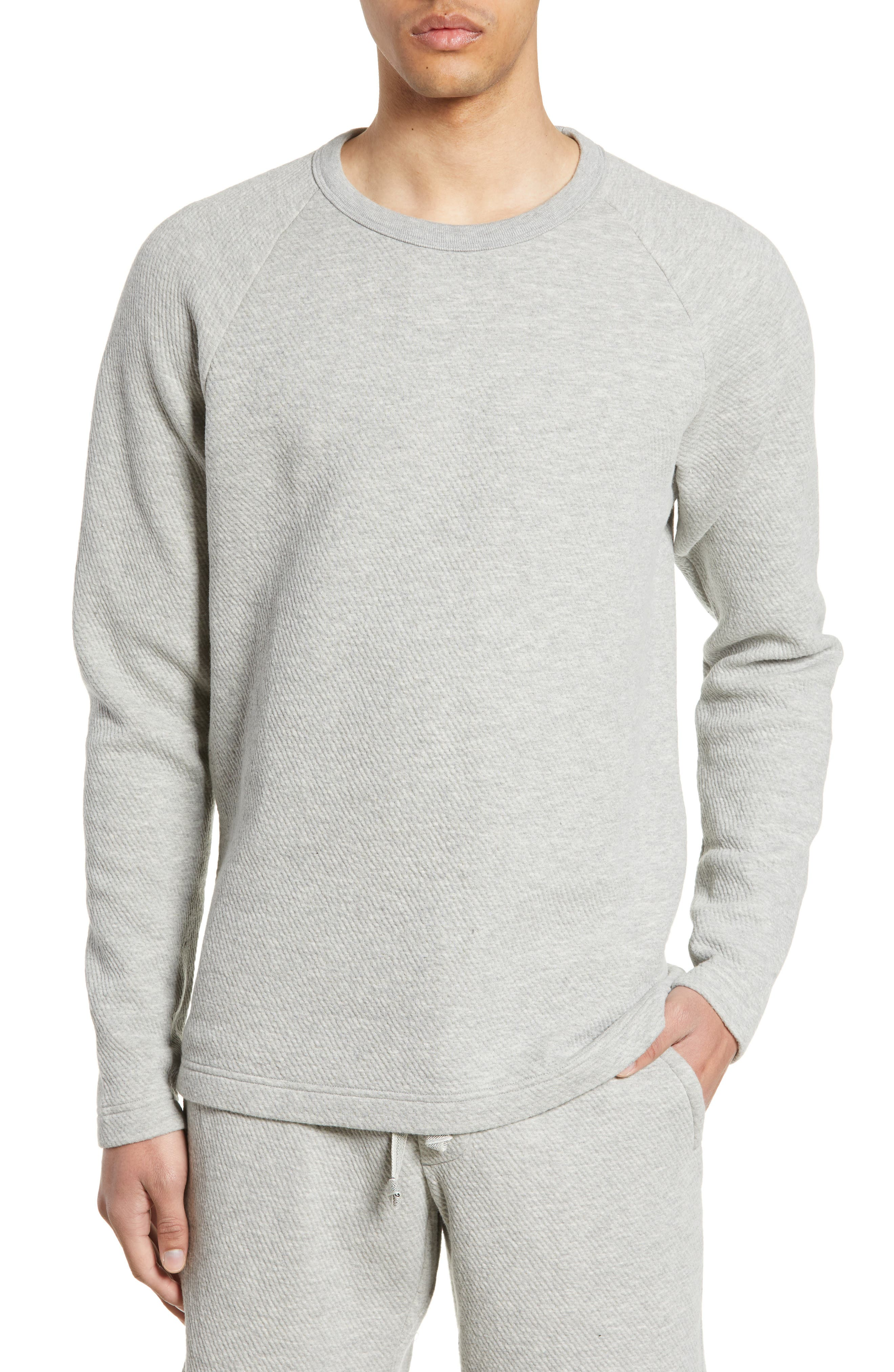 WINGS + HORNS, Vented Sweatshirt, Main thumbnail 1, color, HEATHER GREY