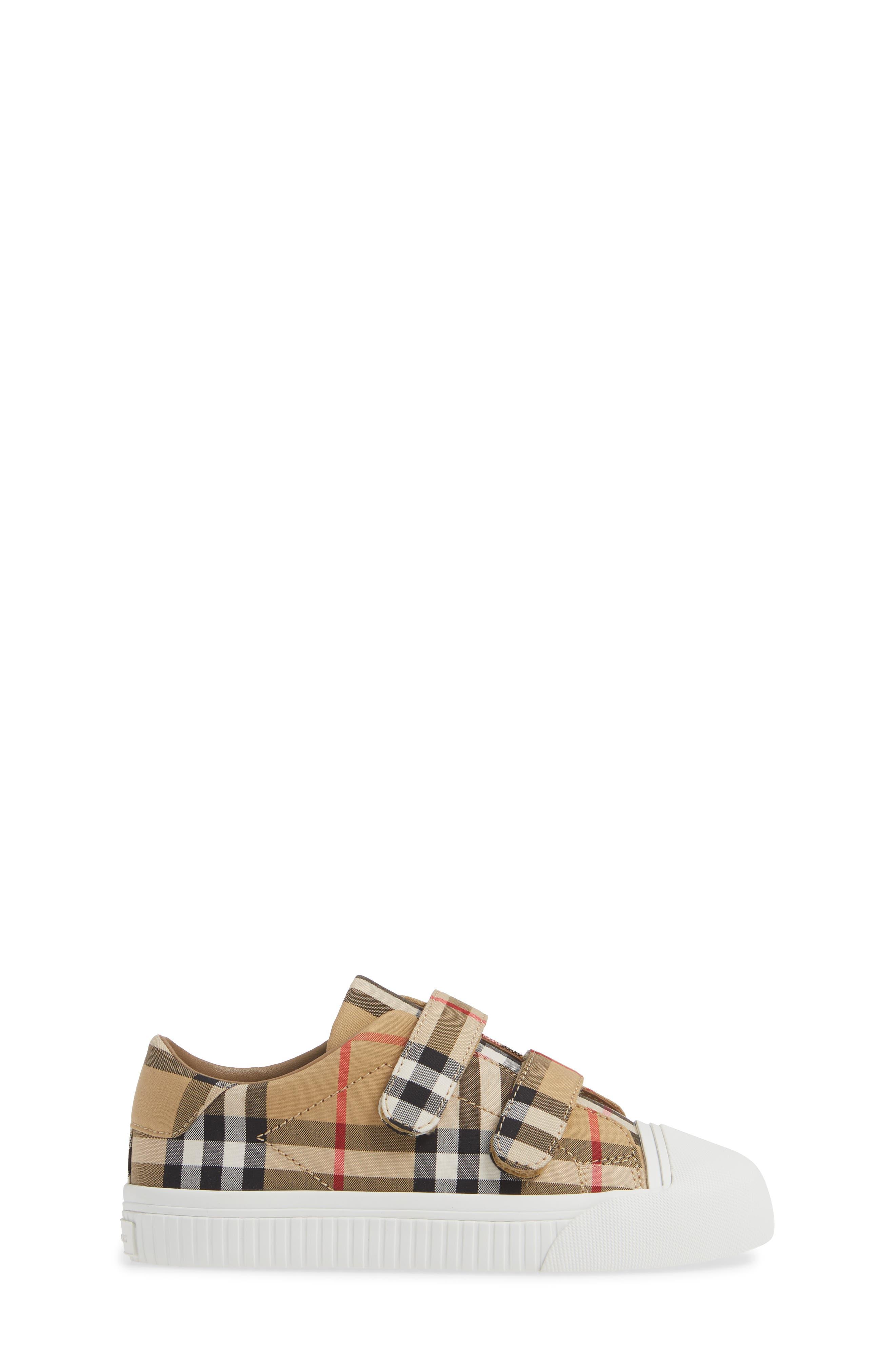 BURBERRY, Belside Sneaker, Alternate thumbnail 3, color, ANTIQUE YELLOW-OPTIC WHITE
