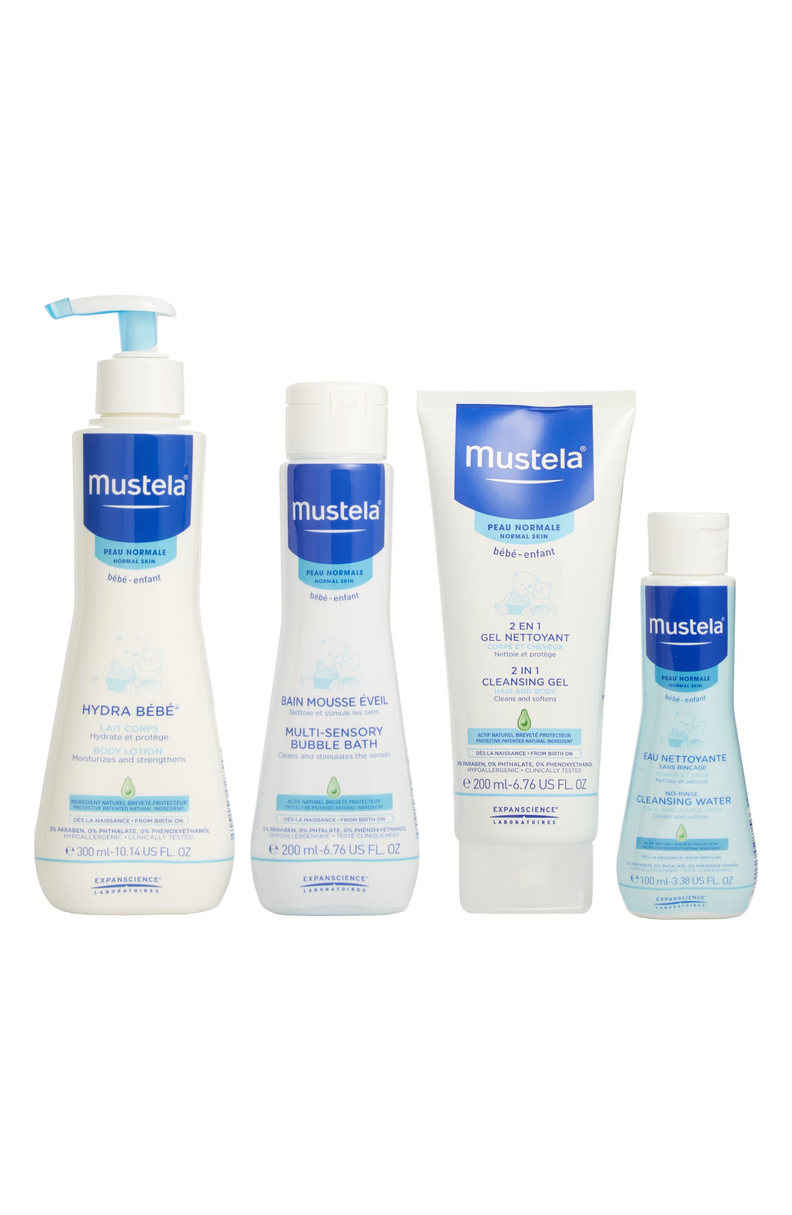 MUSTELA<SUP>®</SUP>, Bathtime Essentials Gift Set, Main thumbnail 1, color, WHITE
