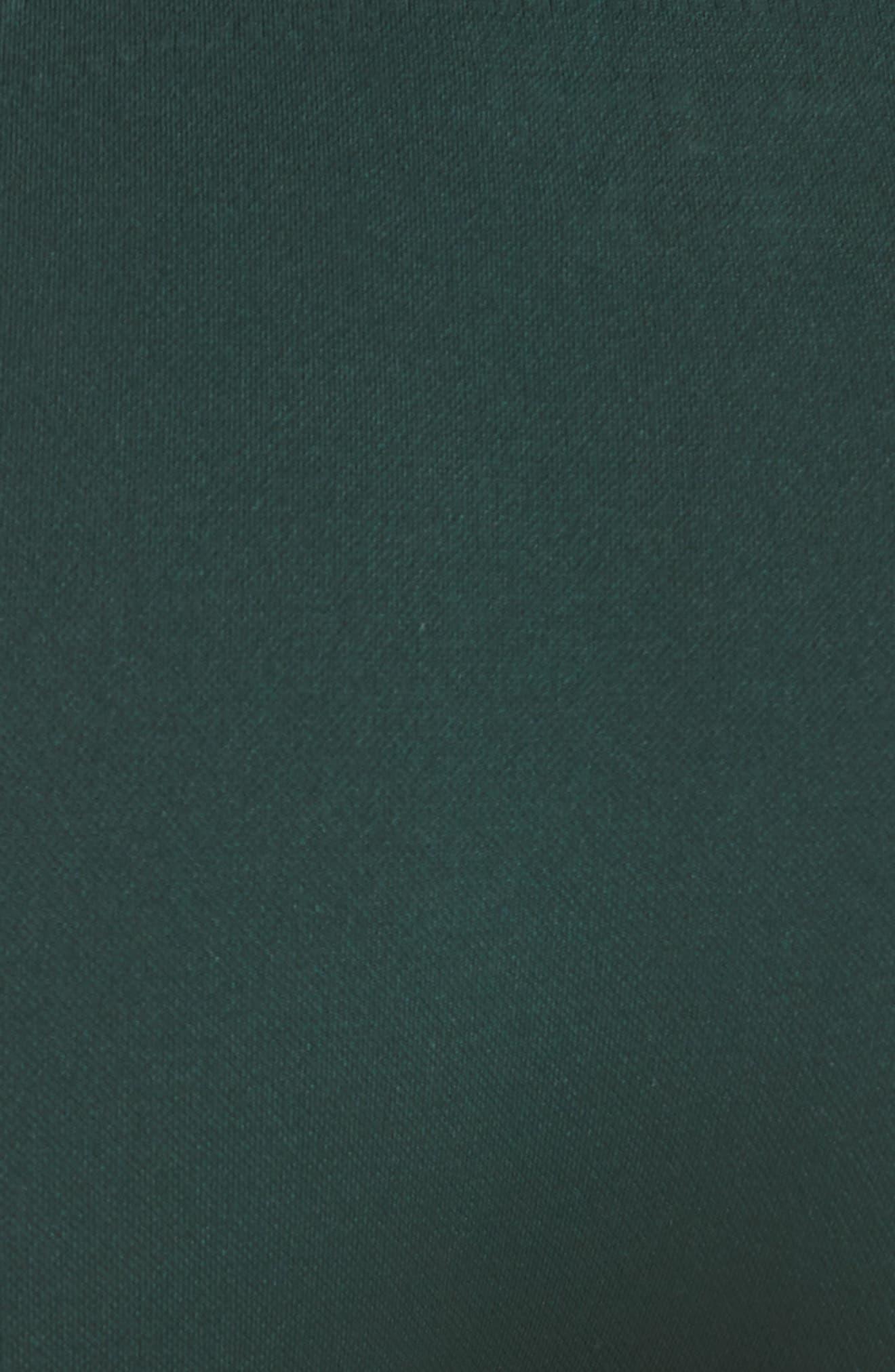 TORY SPORT, Seamless Chevron High Waist Leggings, Alternate thumbnail 6, color, CONIFER