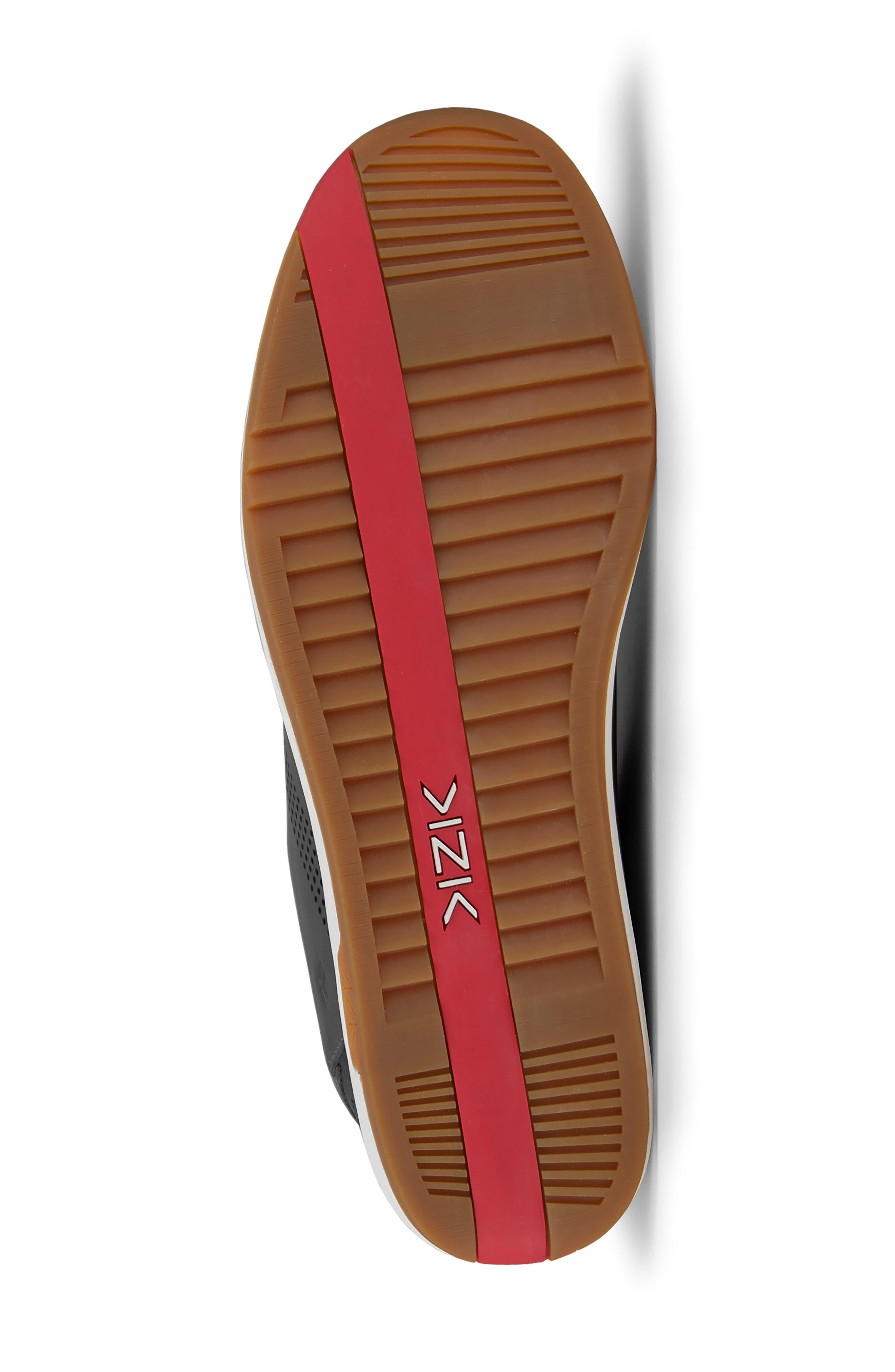 KIZIK, Dubai Slip-On Sneaker, Alternate thumbnail 5, color, BLACK LEATHER
