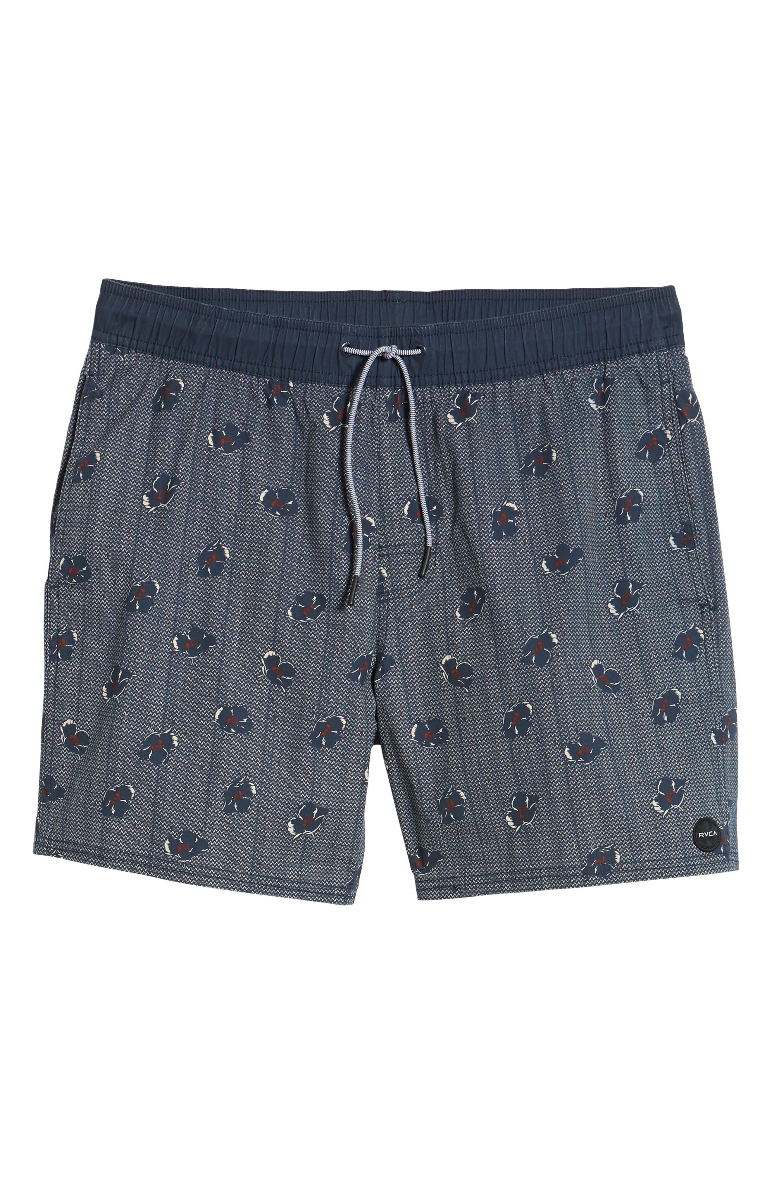 RVCA, Newton Hybrid Shorts, Alternate thumbnail 6, color, NAVY