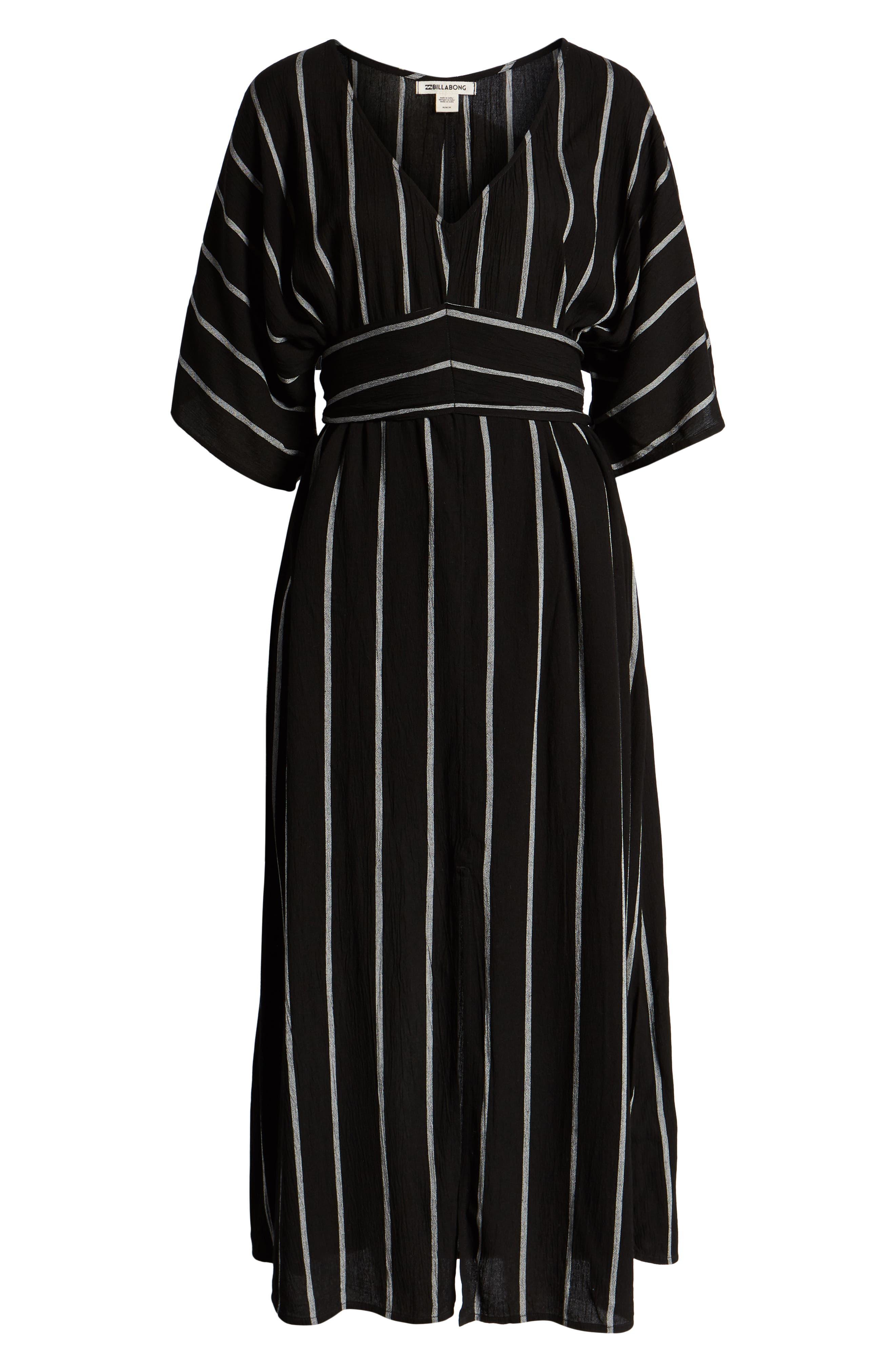 BILLABONG, Forever Fine Dress, Alternate thumbnail 6, color, BLACK