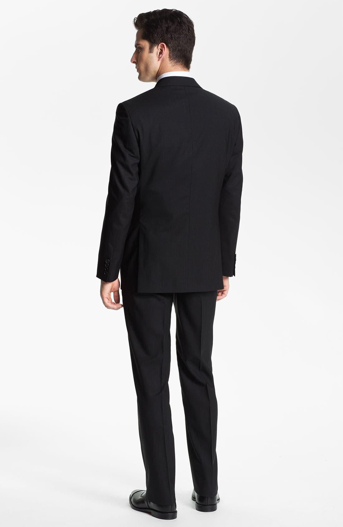 DAVID DONAHUE, Regular Fit Oxford Dress Shirt, Alternate thumbnail 8, color, WHITE