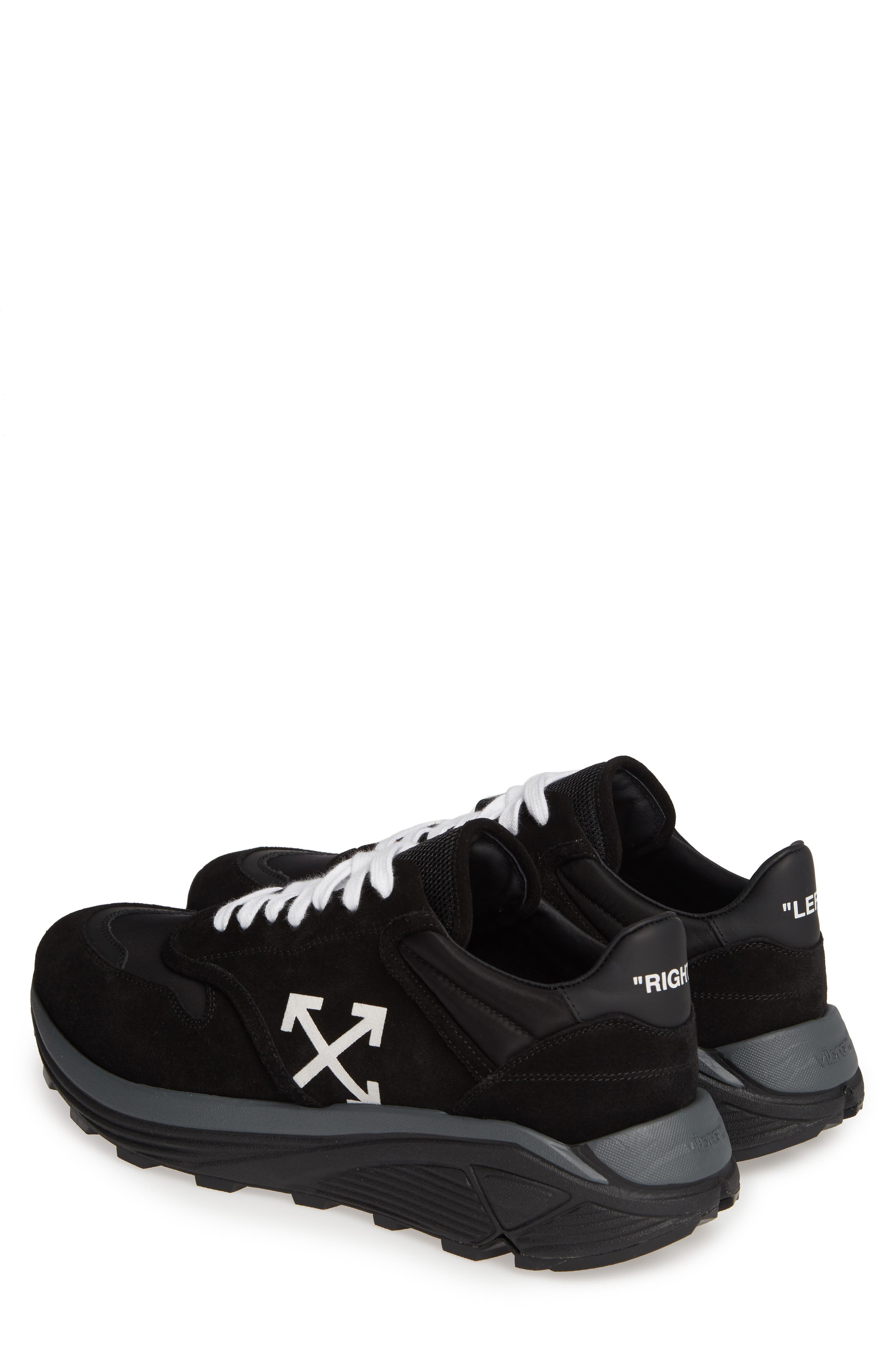 OFF-WHITE, Jogger Sneaker, Alternate thumbnail 3, color, BLACK/ WHITE