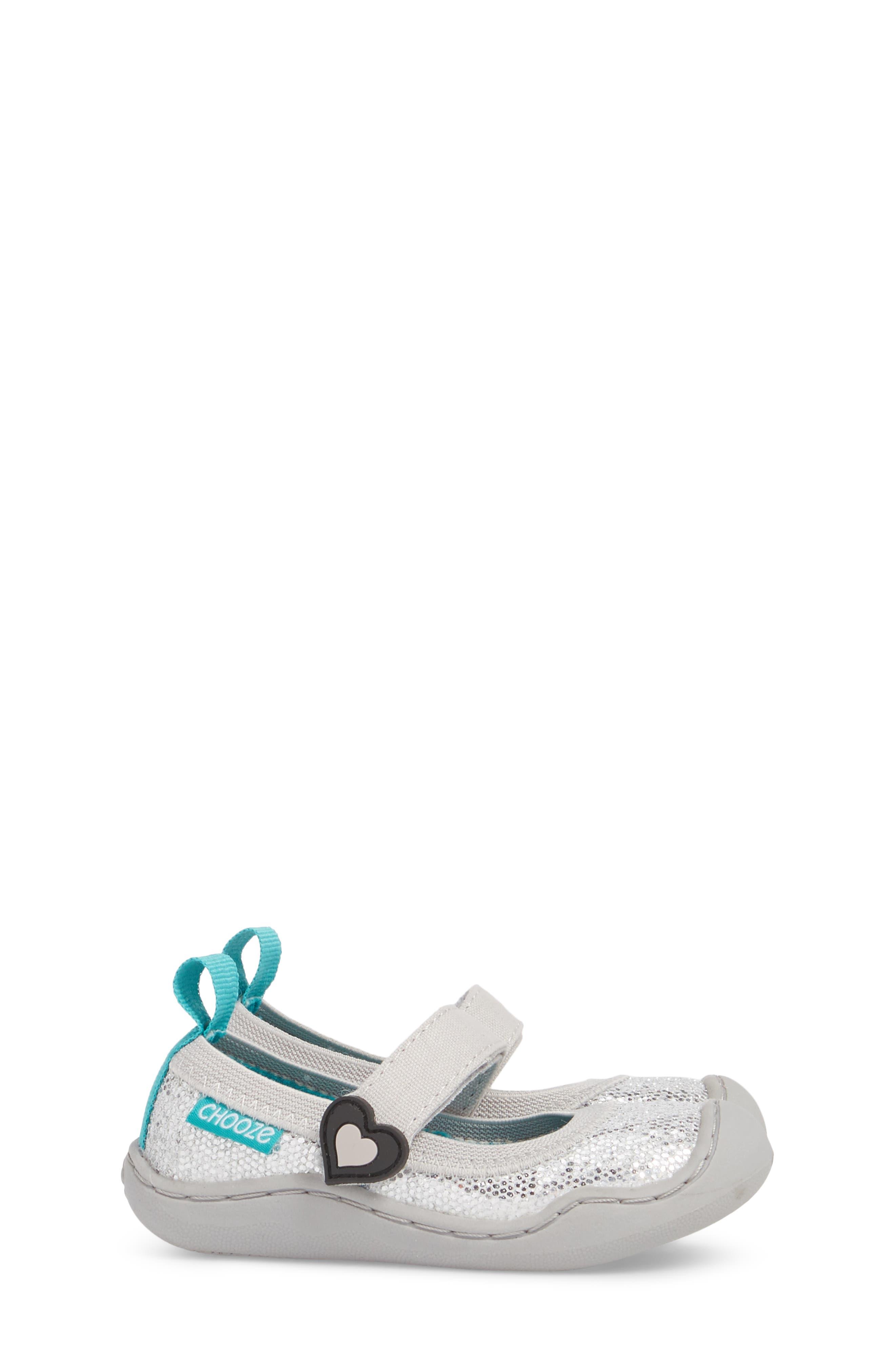 CHOOZE, Steady Shimmer Mary Jane Sneaker, Alternate thumbnail 4, color, GLOW PLATINUM