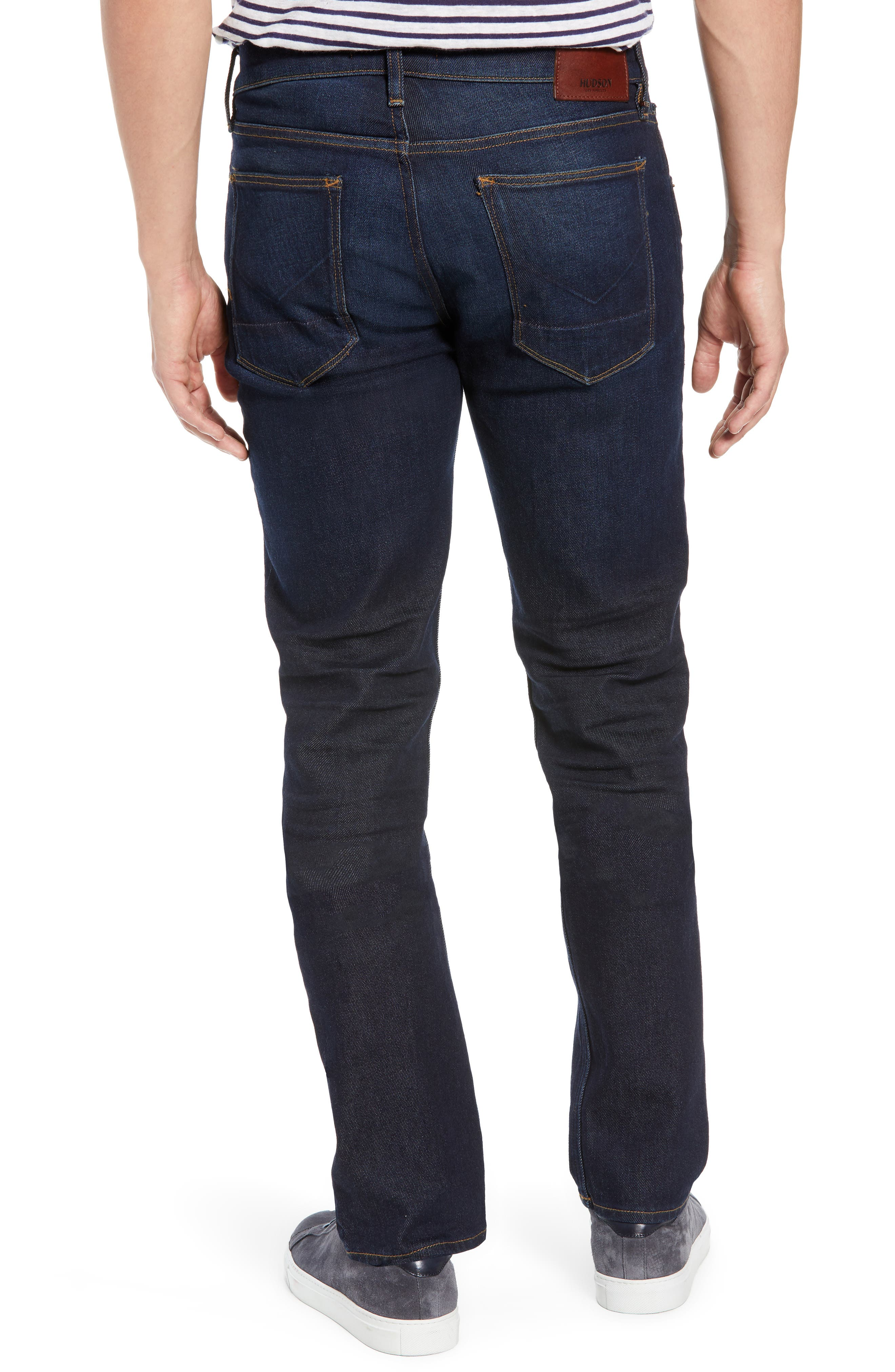 HUDSON JEANS, Blake Slim Fit Jeans, Alternate thumbnail 2, color, VERKLER