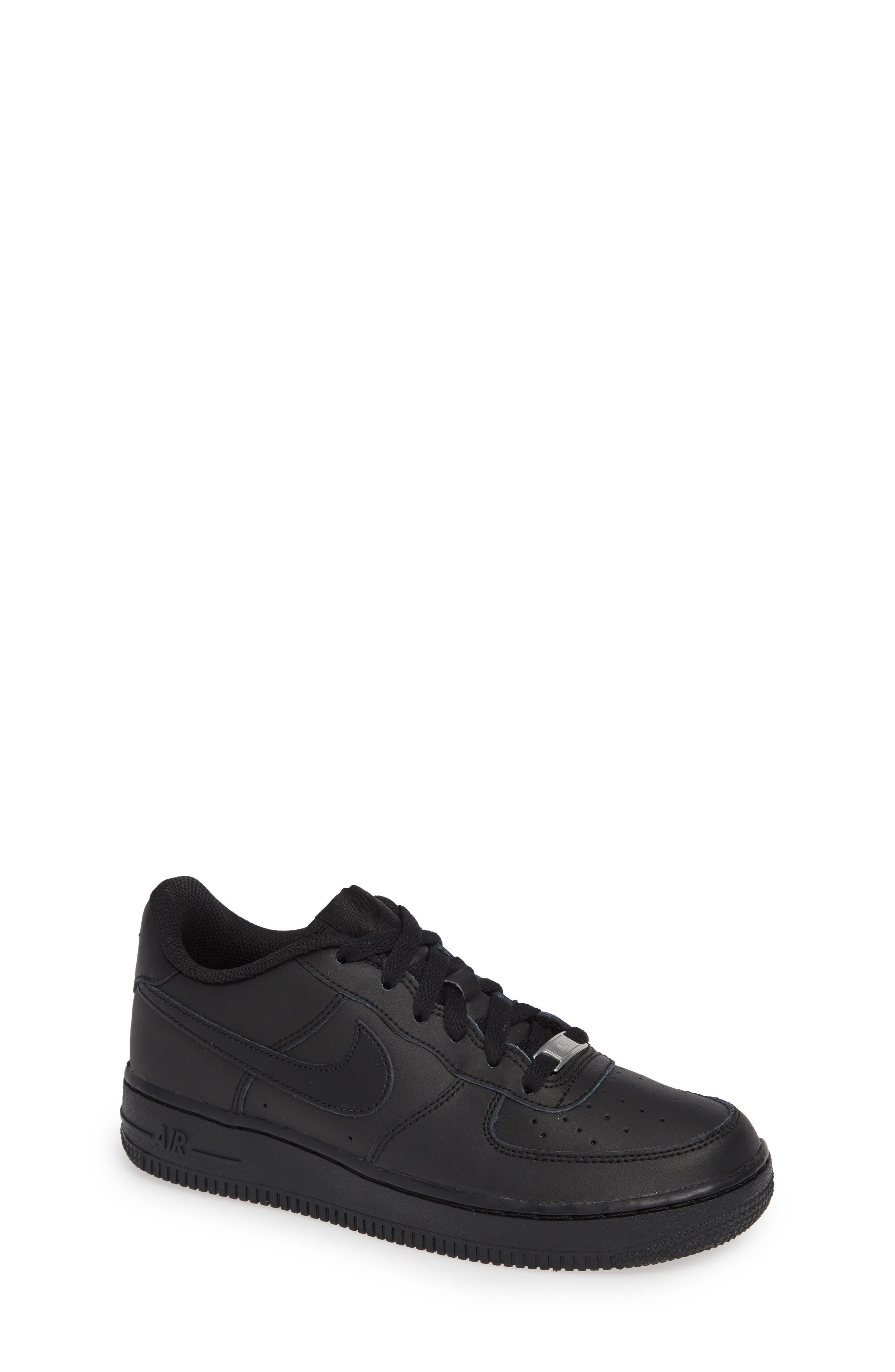 NIKE, Air Force 1 Sneaker, Main thumbnail 1, color, BLACK/ BLACK/ BLACK