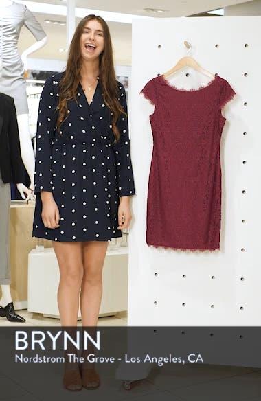 Cap Sleeve Lace Sheath Dress, sales video thumbnail
