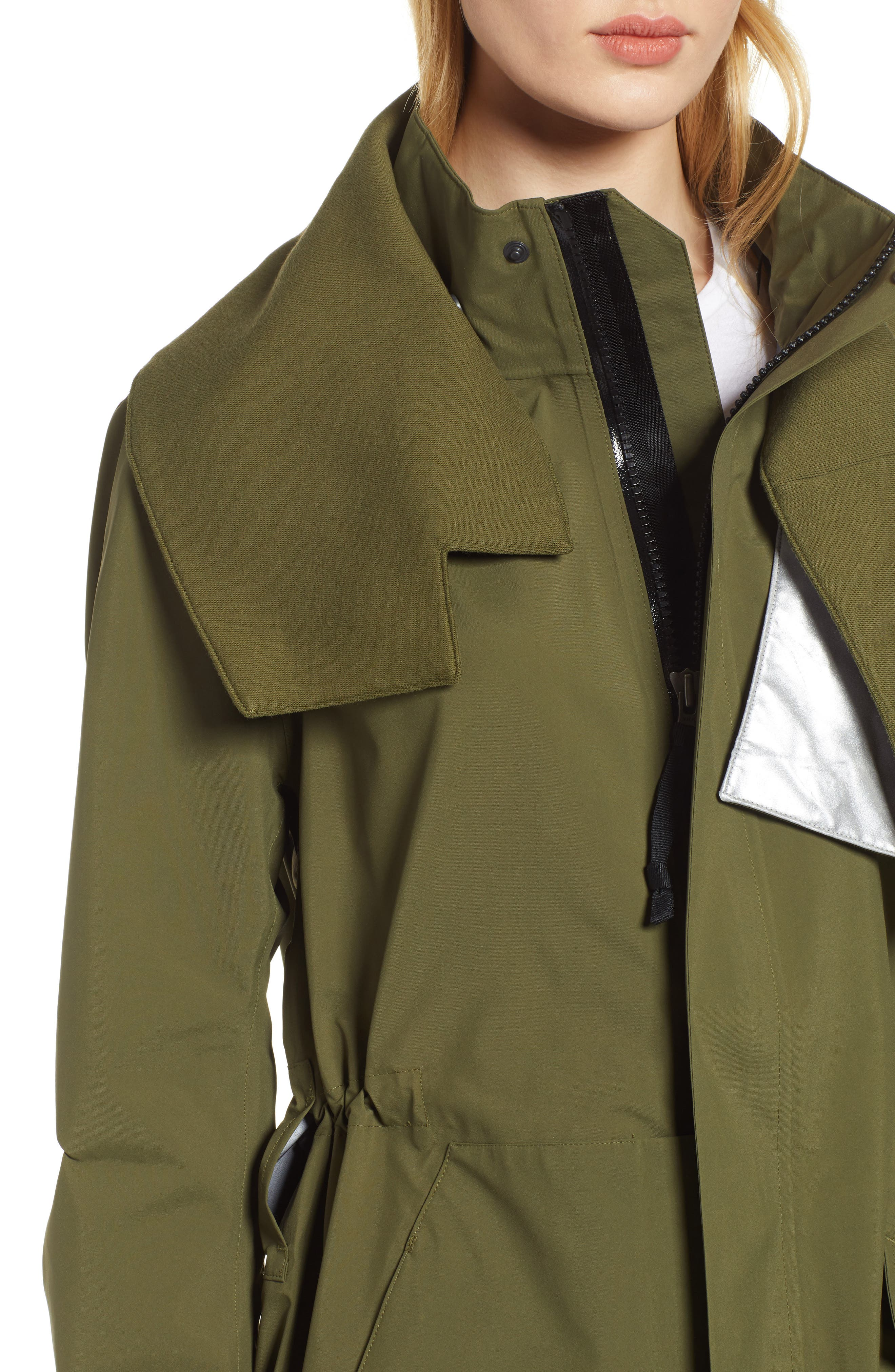 NIKE, NikeLab ACG GORE-TEX<sup>®</sup> Women's Jacket, Alternate thumbnail 6, color, OLIVE CANVAS