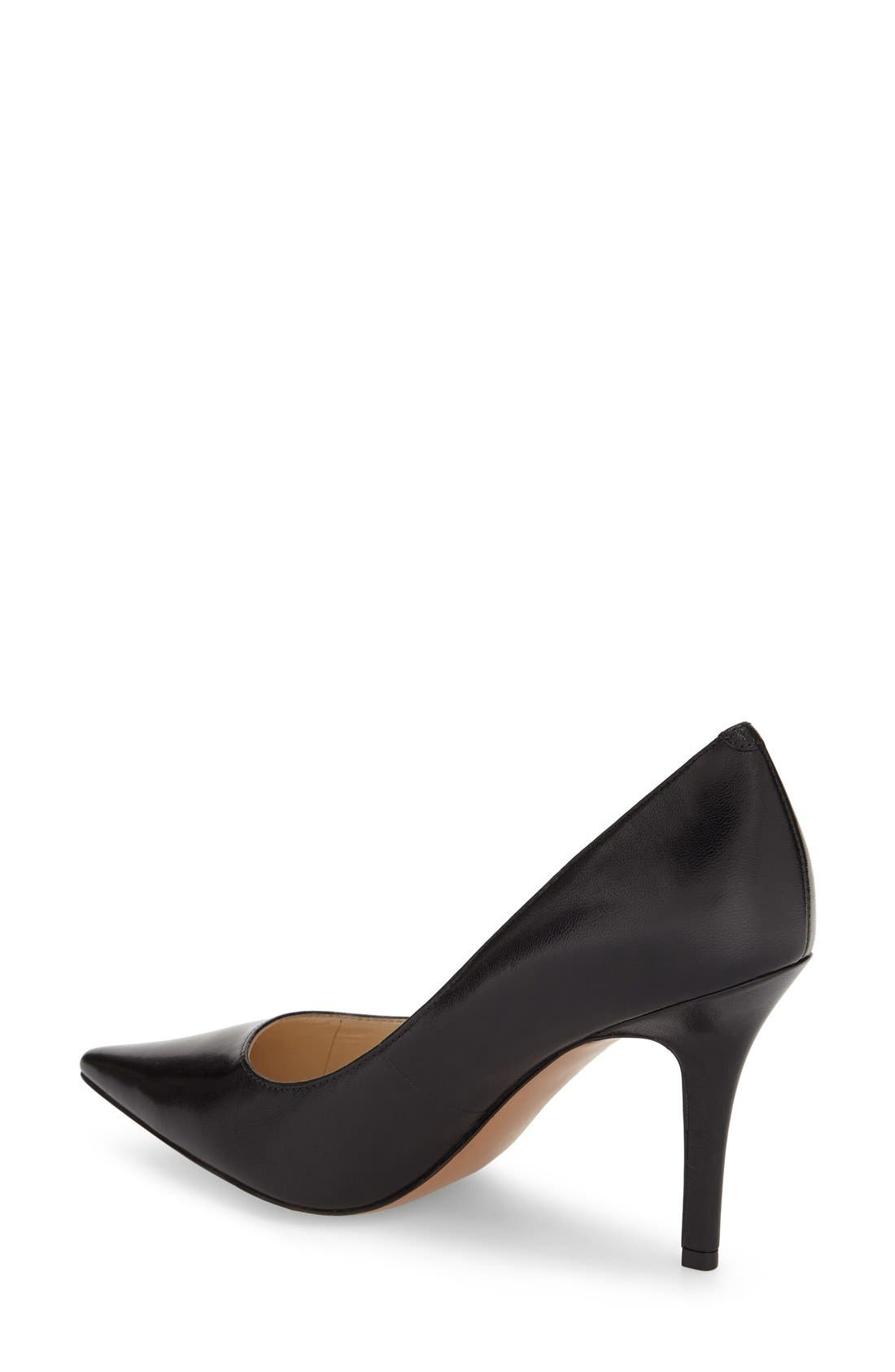 NINE WEST, 'Jackpot' Pointy Toe Pump, Alternate thumbnail 2, color, 001
