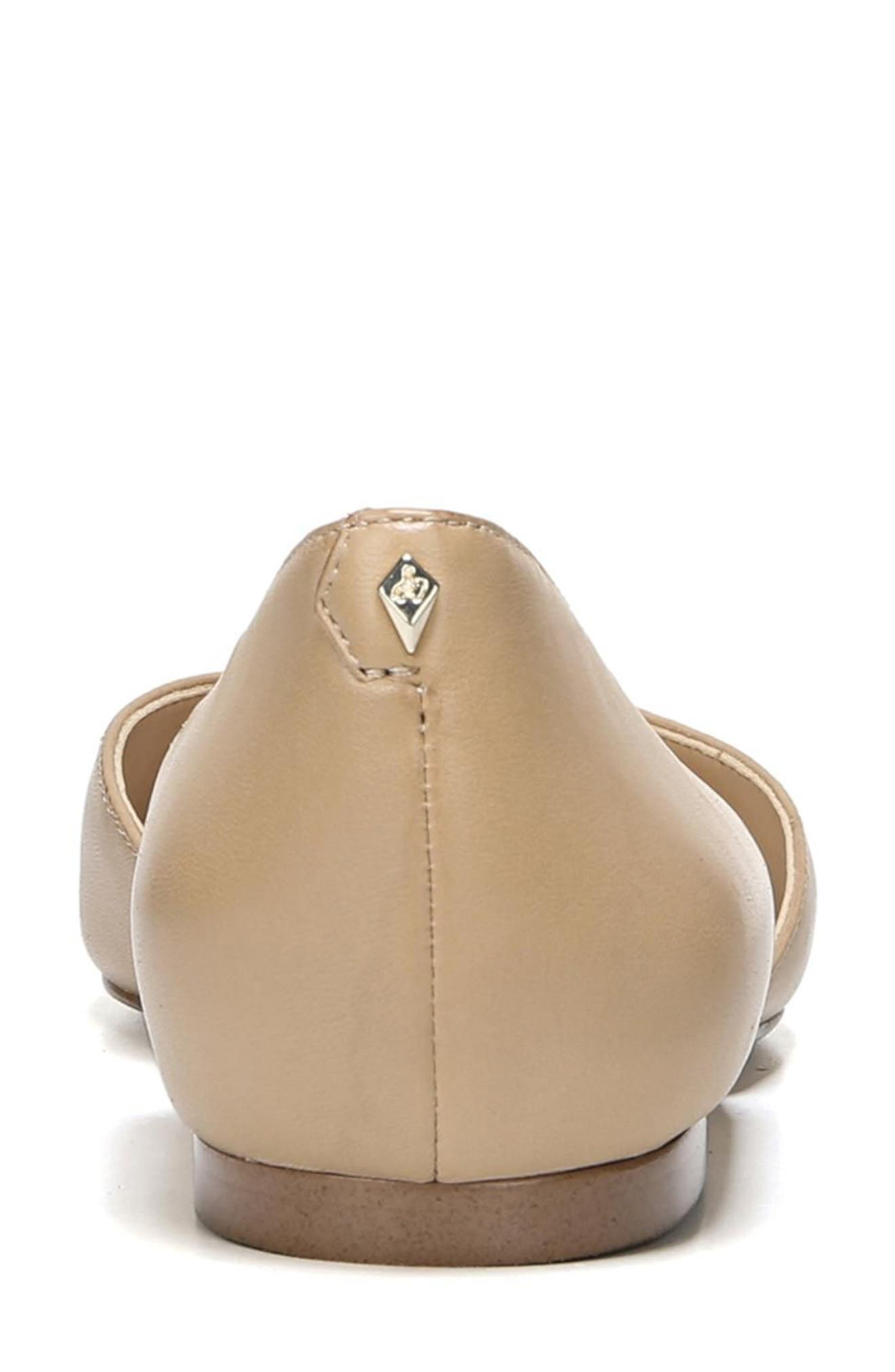 SAM EDELMAN, Rodney Pointy Toe d'Orsay Flat, Alternate thumbnail 7, color, CLASSIC NUDE LEATHER