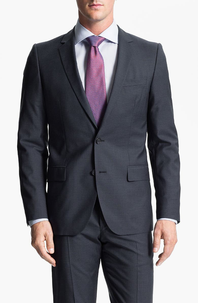 5ac3af3d ZZDNUHUGO BOSS HUGO 'Amaro/Heise' Trim Fit Suit, Main, color,