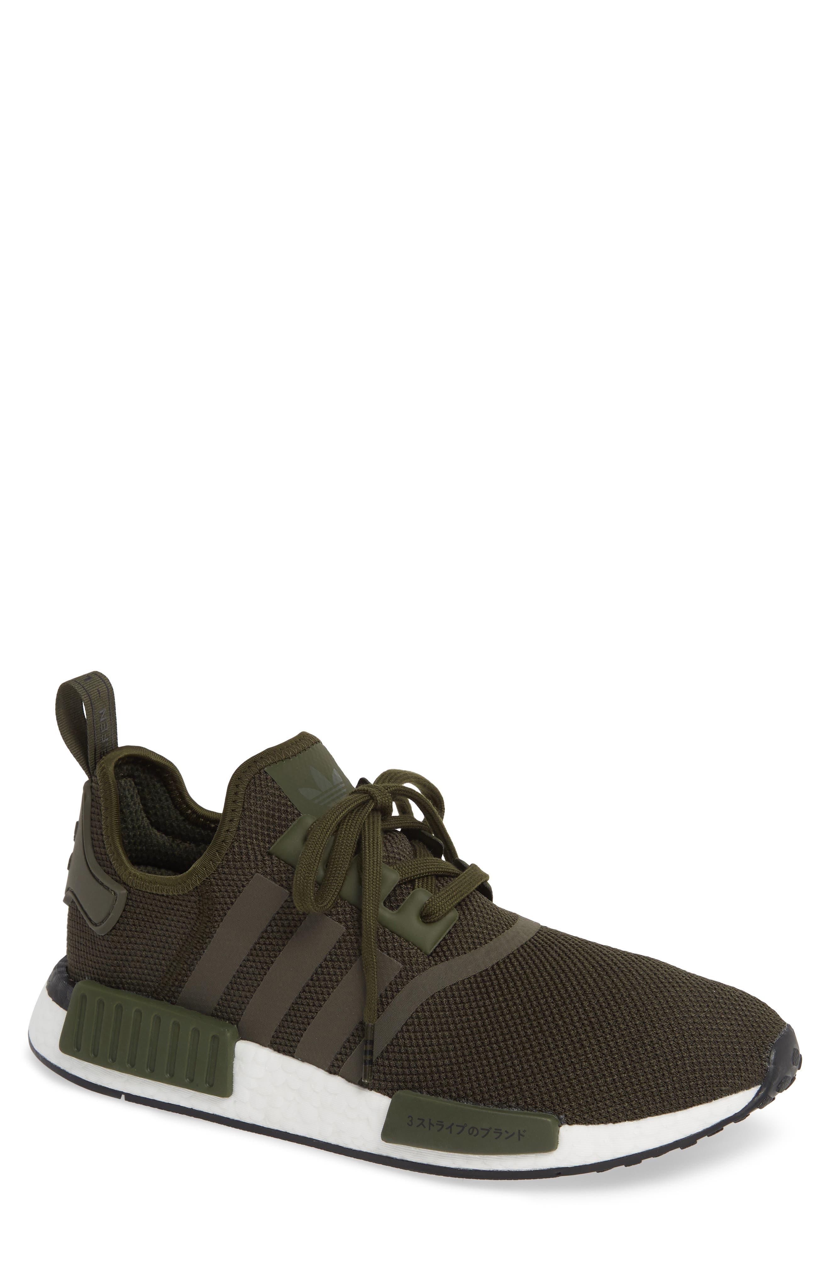 ADIDAS Originals NMD R1 Sneaker, Main, color, NIGHT CARGO/ BLACK