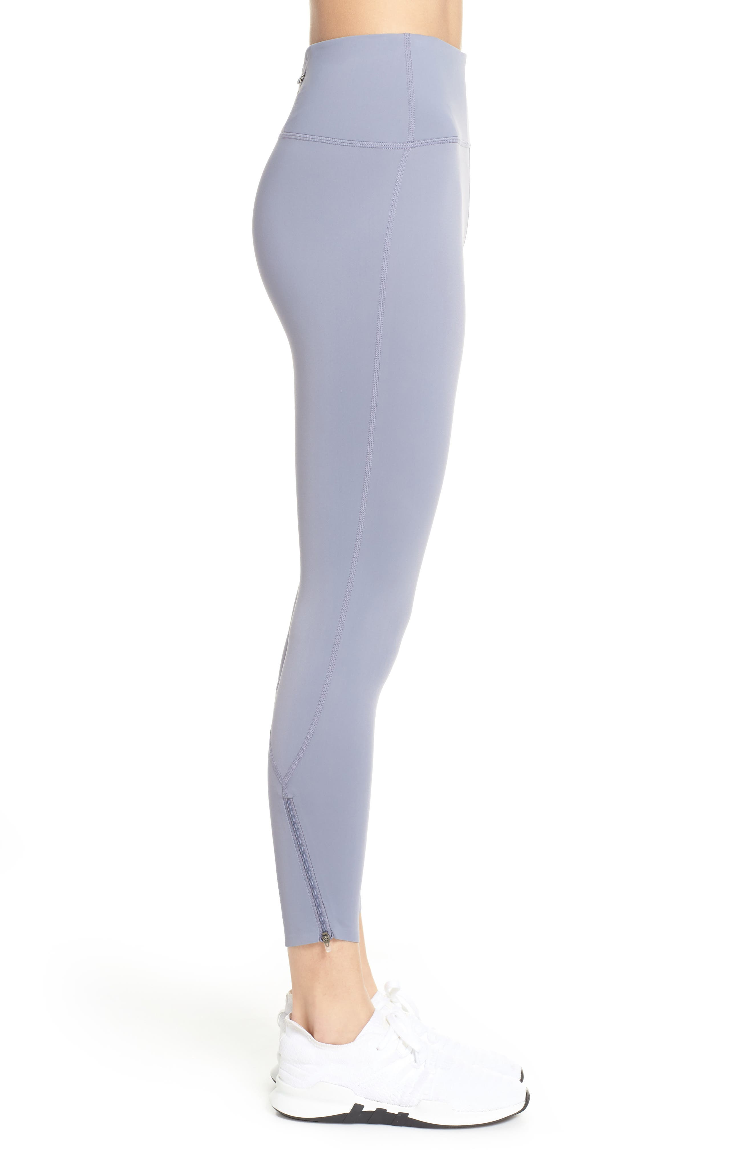 ZELLA, Luella Luxe High Waist 7/8 Leggings, Alternate thumbnail 4, color, GREY GRANITE