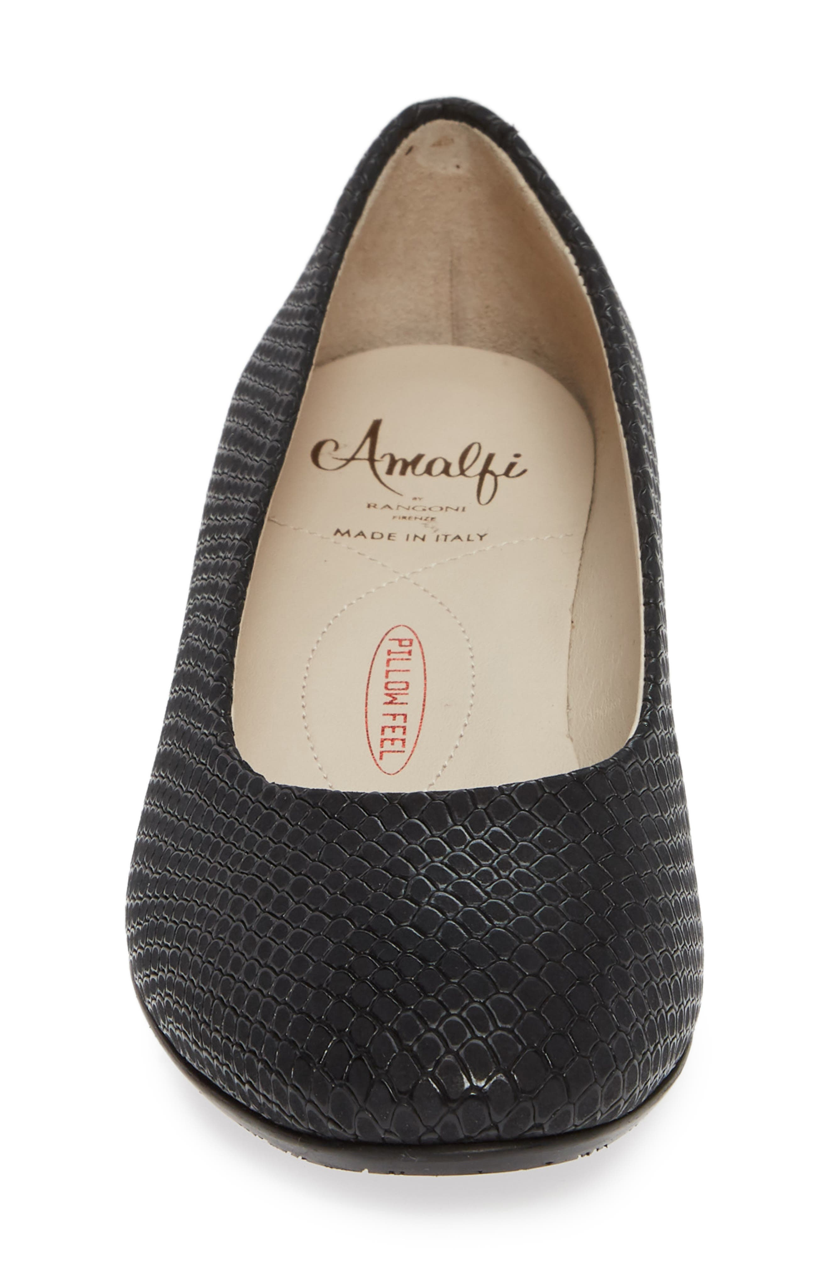 AMALFI BY RANGONI, Record Pump, Alternate thumbnail 4, color, BLACK OXIDE SUEDE
