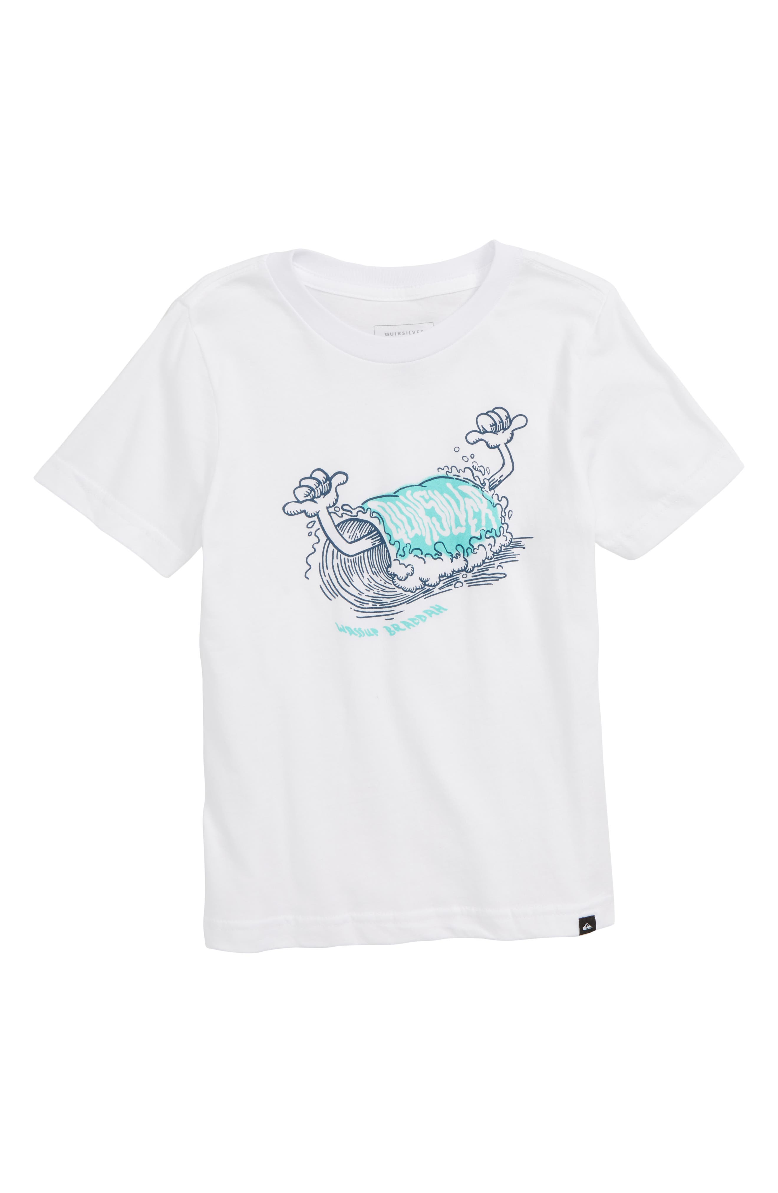 QUIKSILVER, Wassup Braddah T-Shirt, Main thumbnail 1, color, WHITE