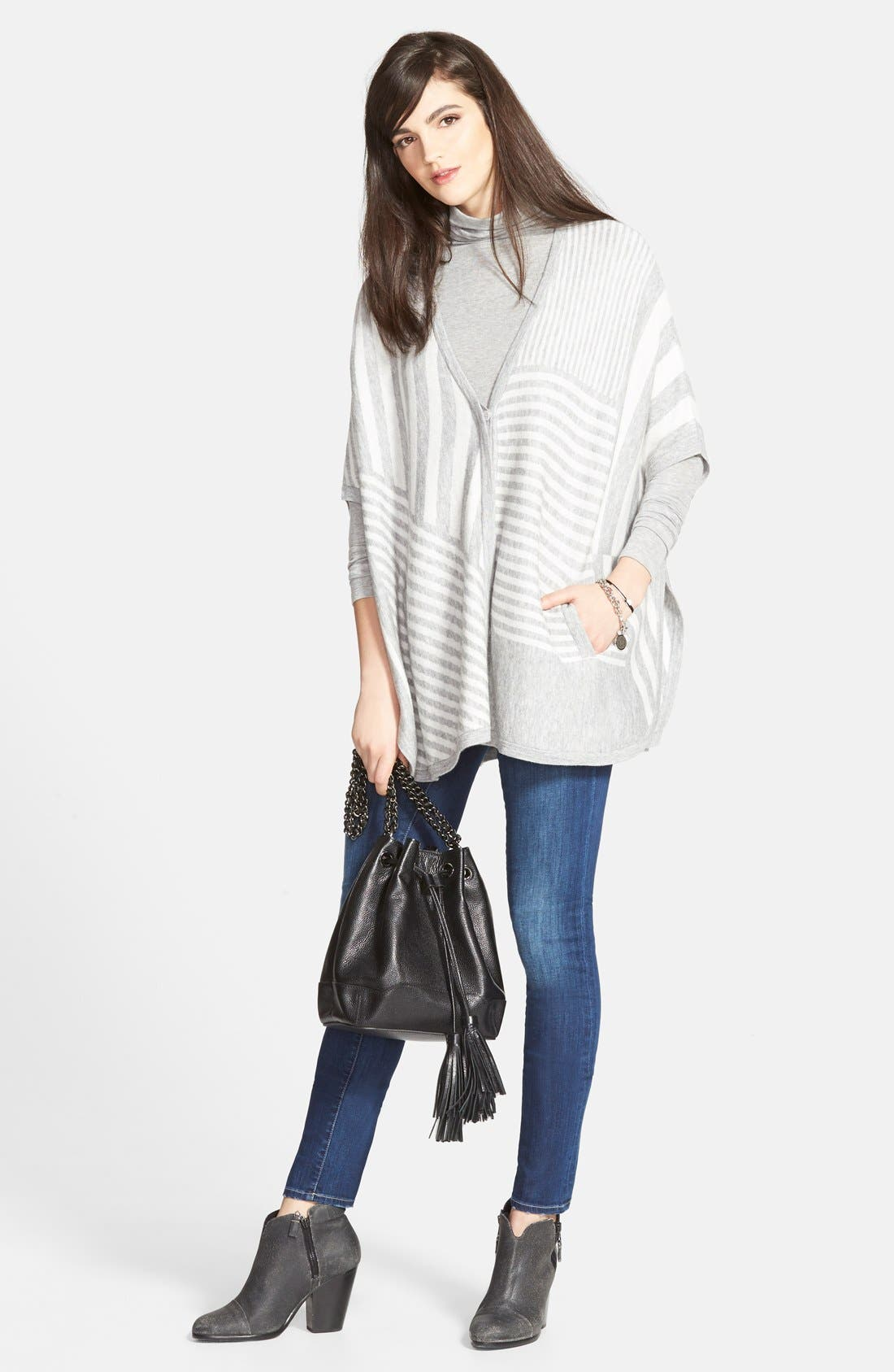 CHELSEA28, Layering Turtleneck, Alternate thumbnail 12, color, GREY HEATHER